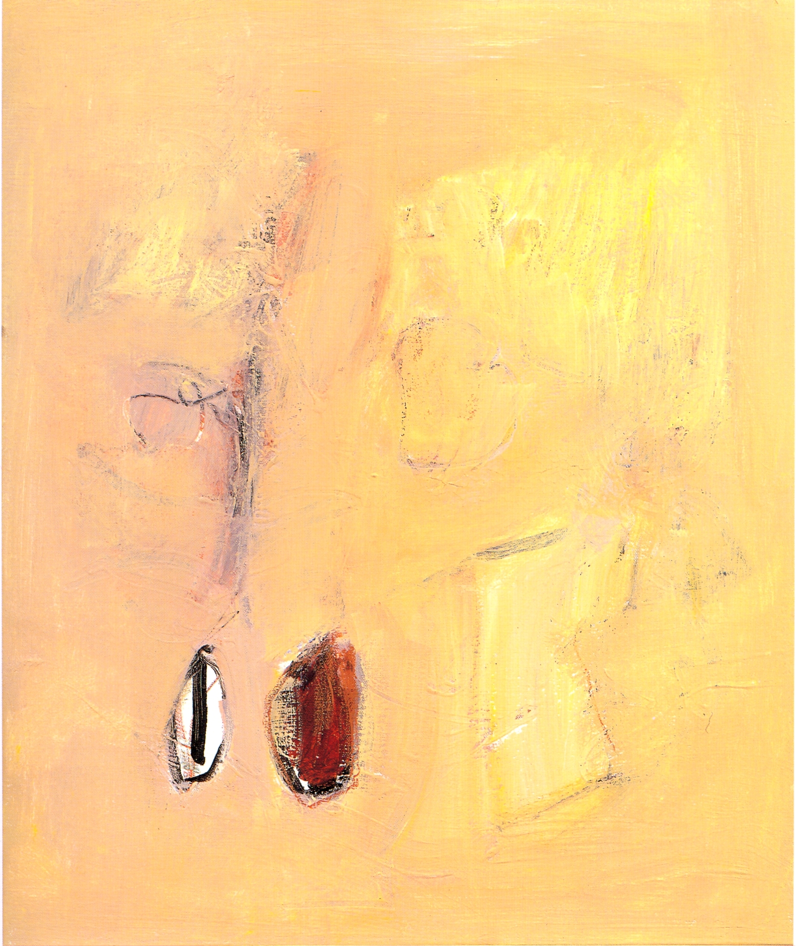 "Still Life II,   2002, Acrylic with mixed media on canvas, 24"" x 20"""