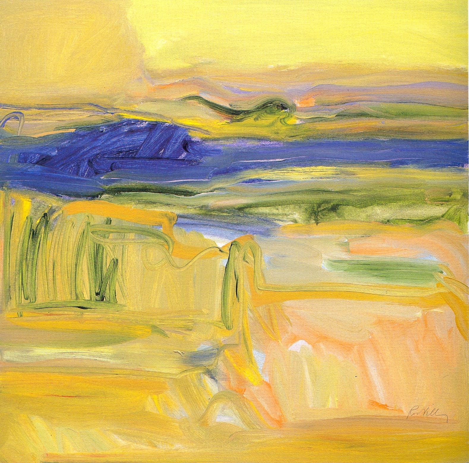 """Summer's End,   2002, Acrylic on canvas, 24"""" x 24"""""""