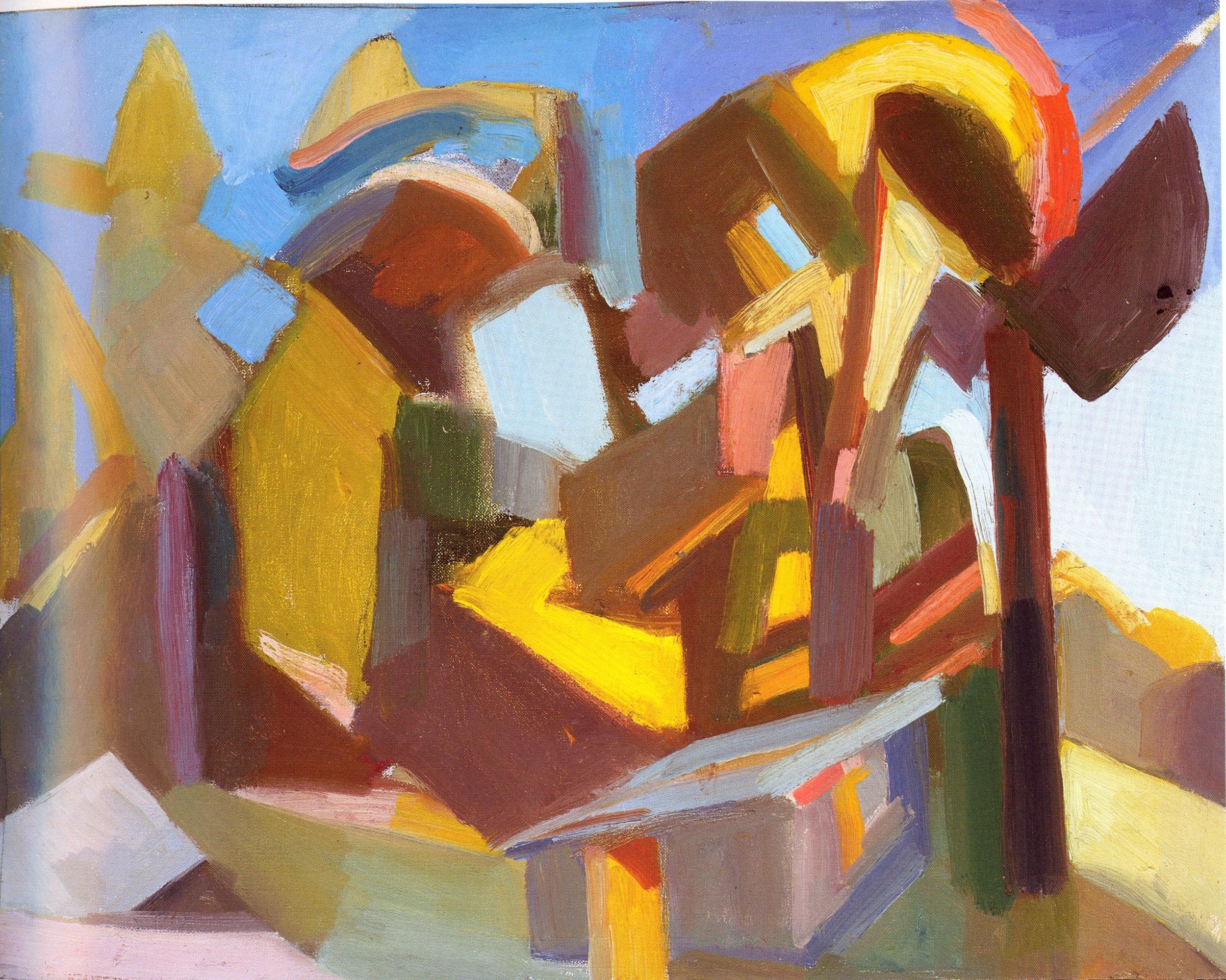 """Robin's Dream,   2002, Oil on board, 16"""" x 20"""""""