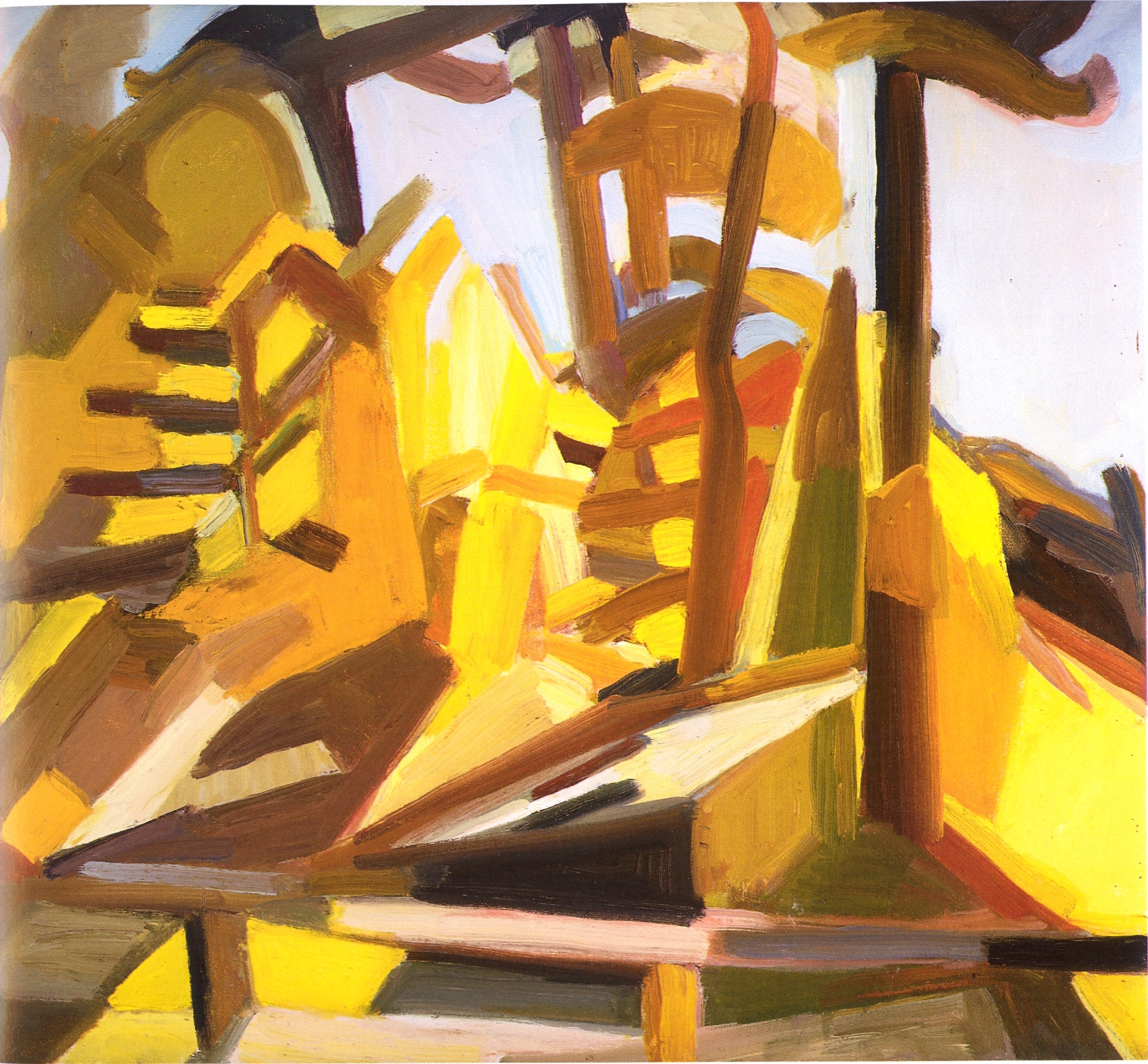 """Where Jefe Walked,   2002, Oil on canvas, 22"""" x 24"""""""