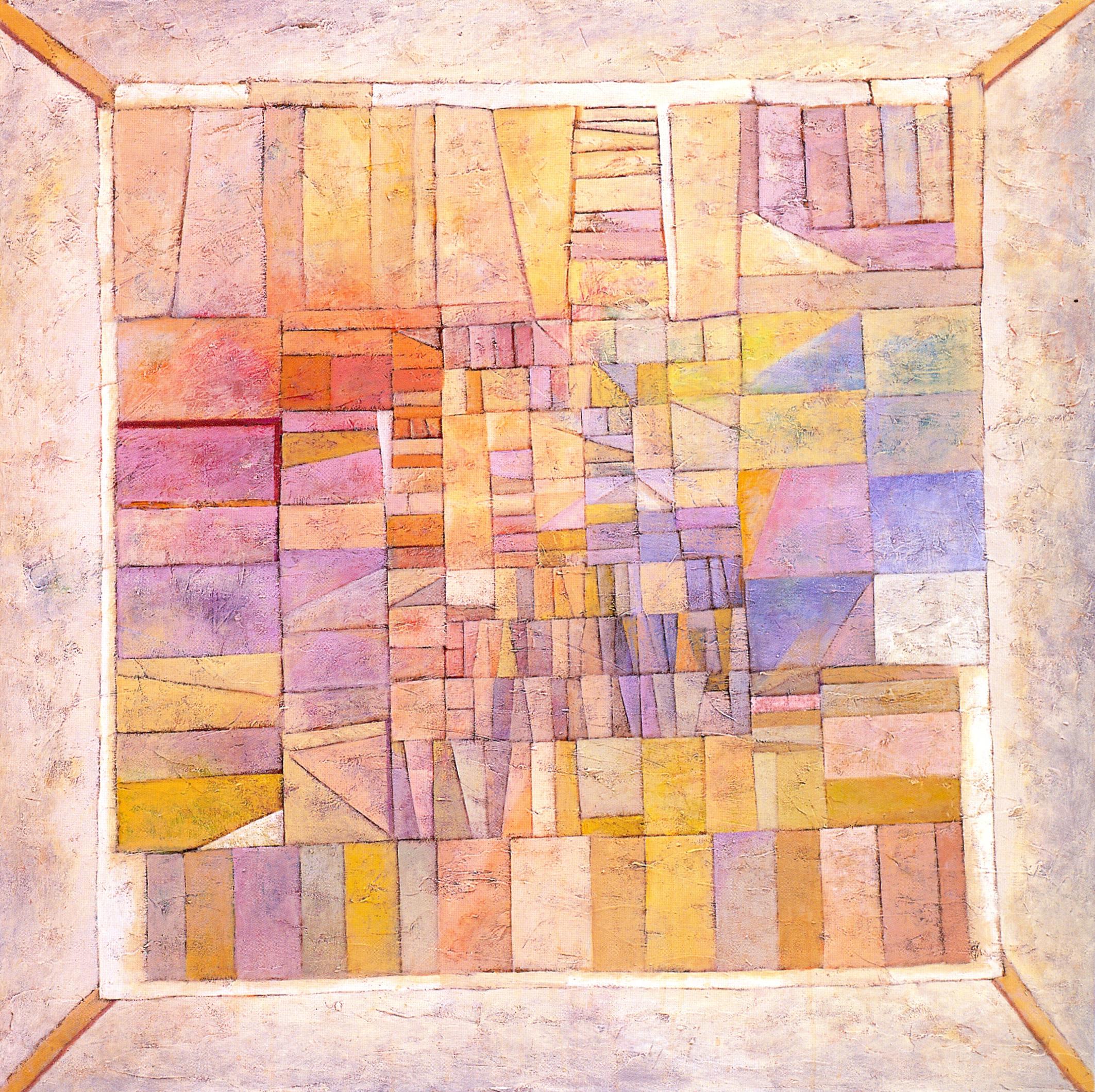 "Road Home #2 (Pojagi #1),   2002, Acrylic on canvas, 48"" x 48"""