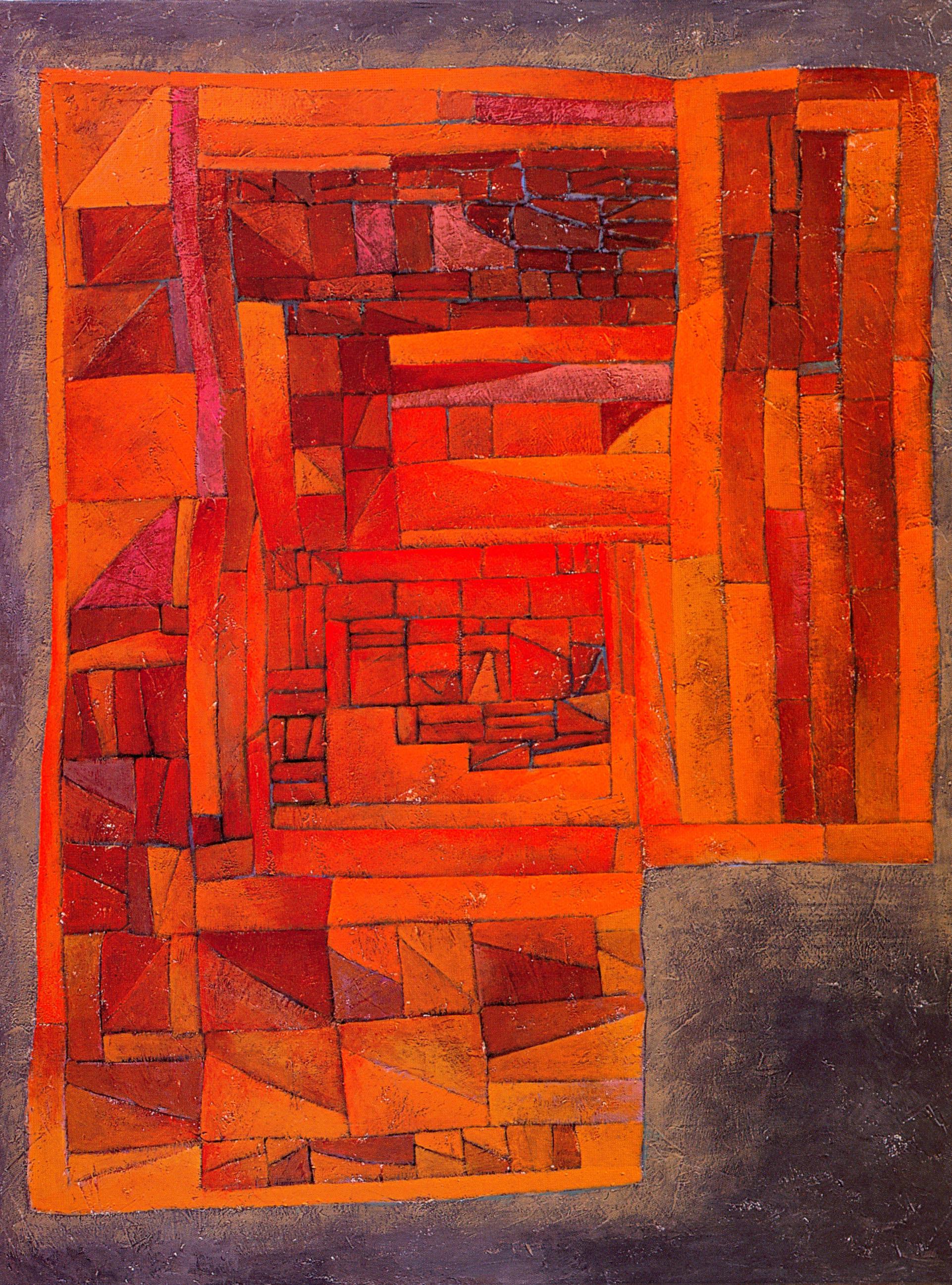 "Road Home #3 (Pojagi #2),   2002, Acrylic on canvas, 48"" x 36"""