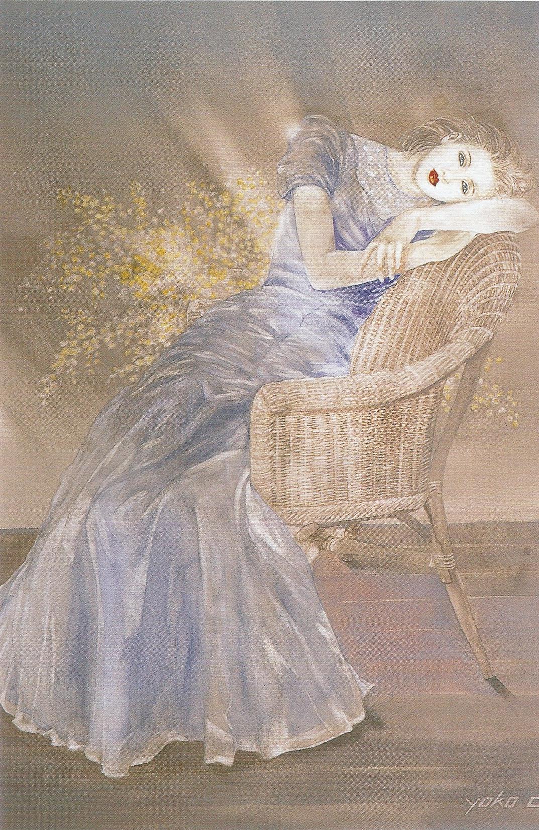 """Yoko Nakagawa: In the Light,  Watercolor on paper, 19.2"""" x 14"""", 1998"""
