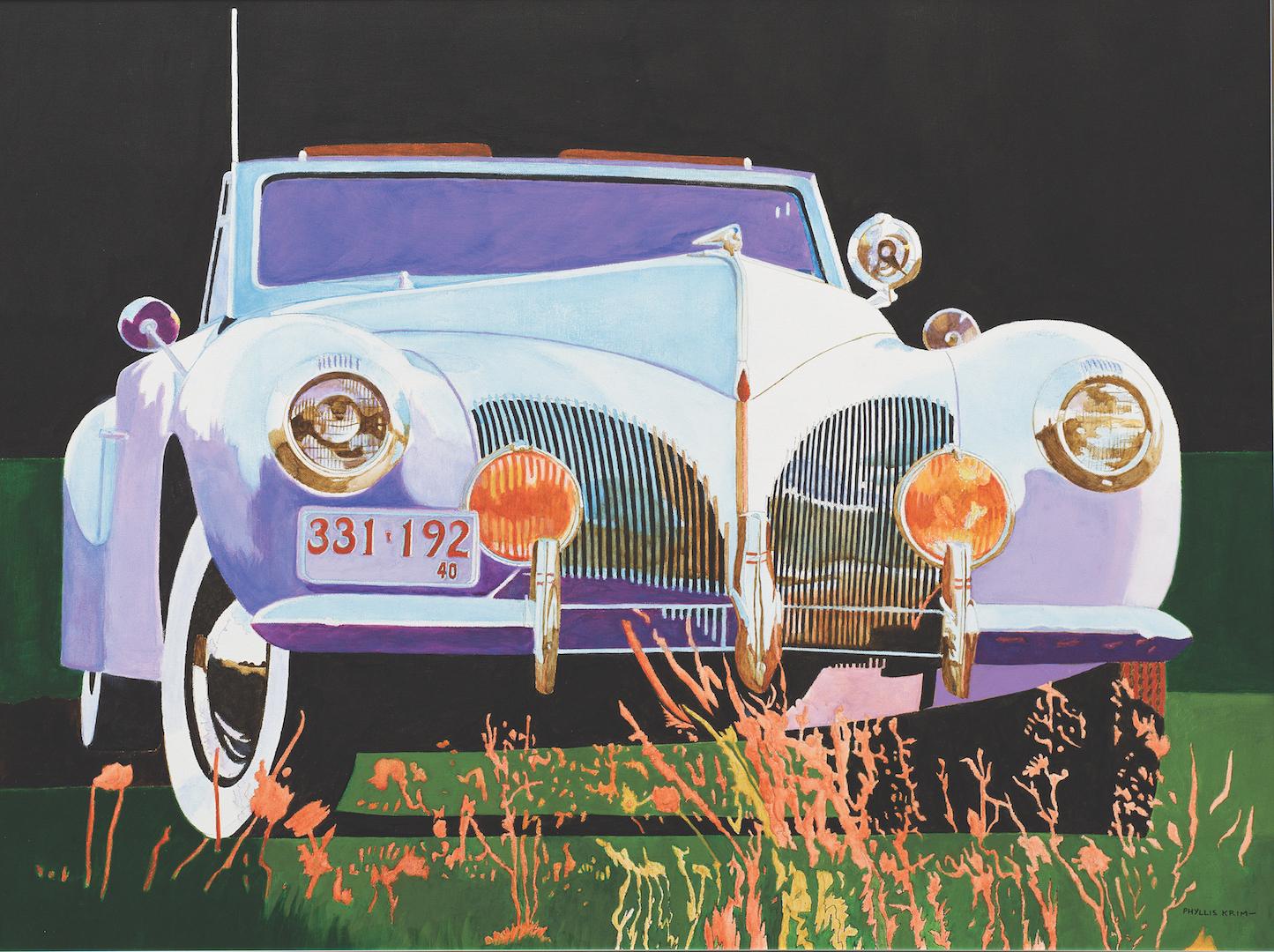 """1940 Lincoln,  Acrylic on Canvas, 30"""" x 40"""", 2004"""