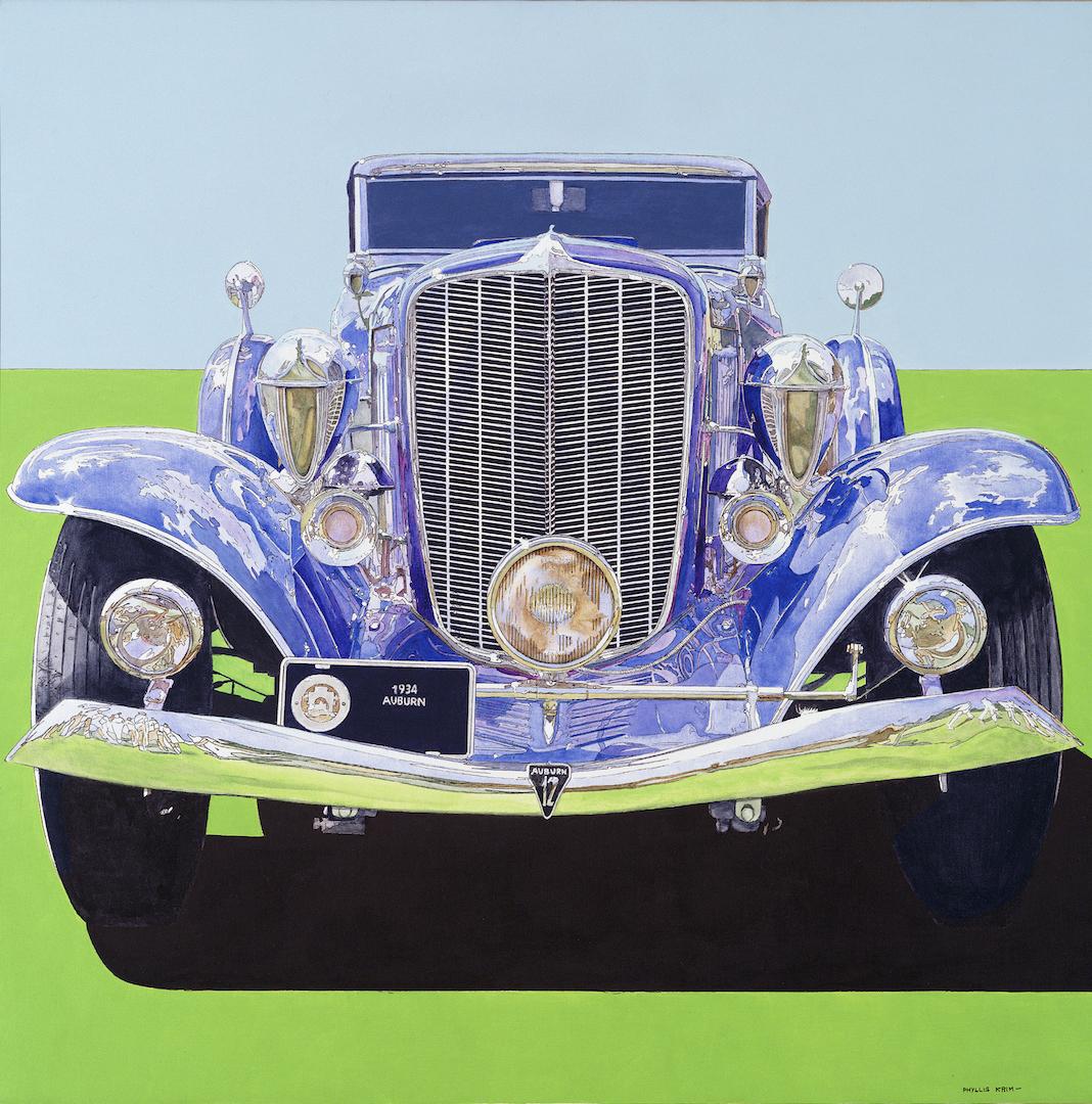 """1934 Auburn Blue,  Acrylic on Canvas, 40"""" x 40"""", 1985"""