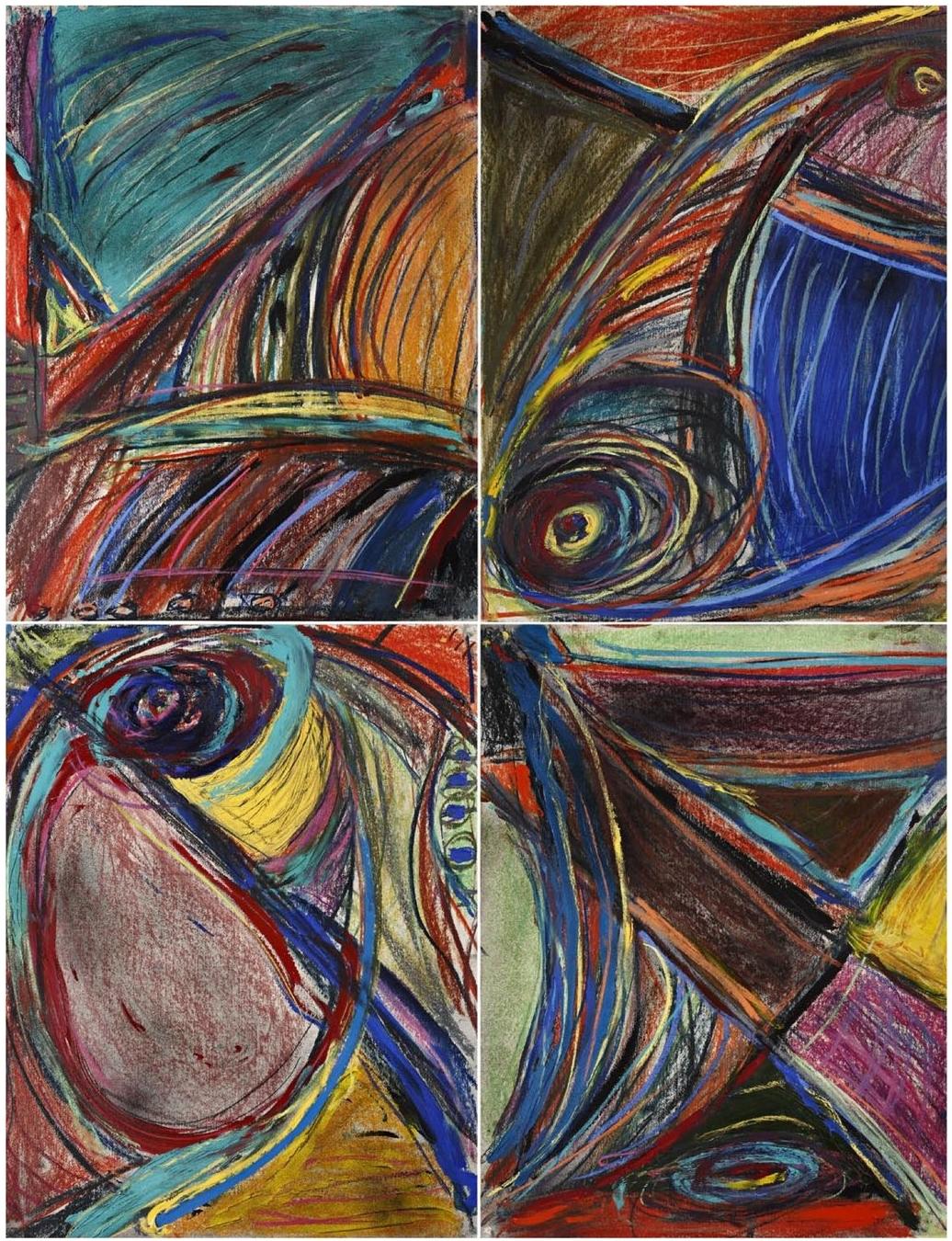 James Jenkins    Landscape (190),   mixed media on paper 5' x 7', 2008