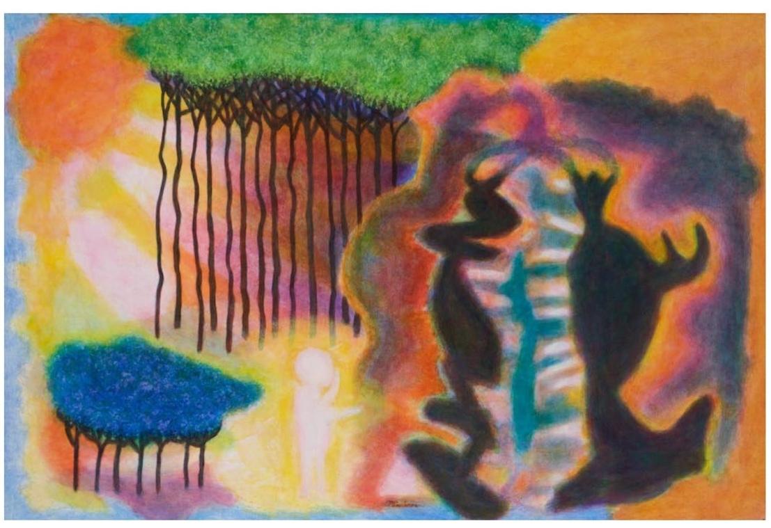 "Michael Pinchera    Fairy Tale, a  crylic on board, 32"" x 48"", 2008"
