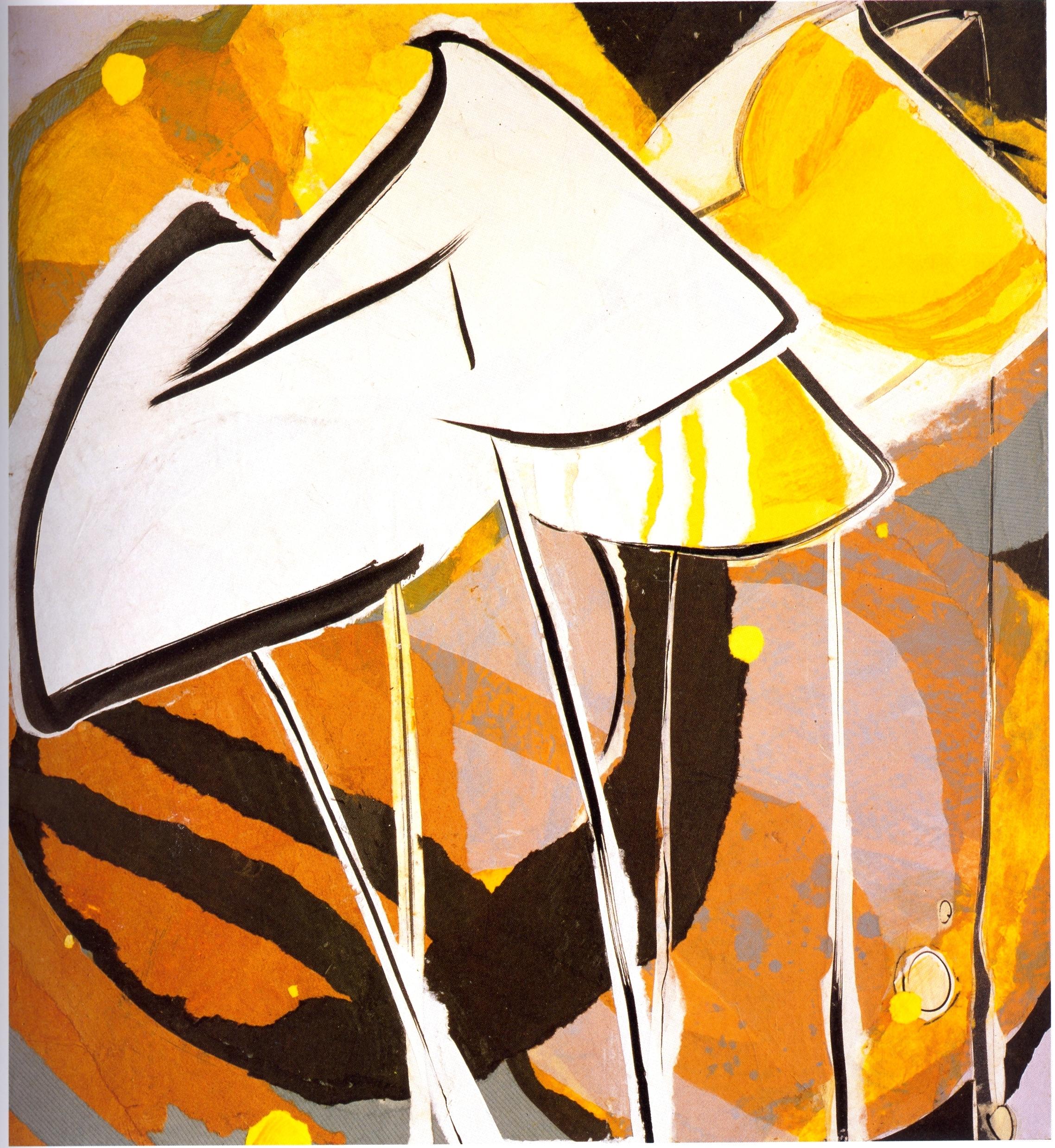 "Meighen Jackson    Autumn,   collage on linen, 24"" x 26"", 2005"