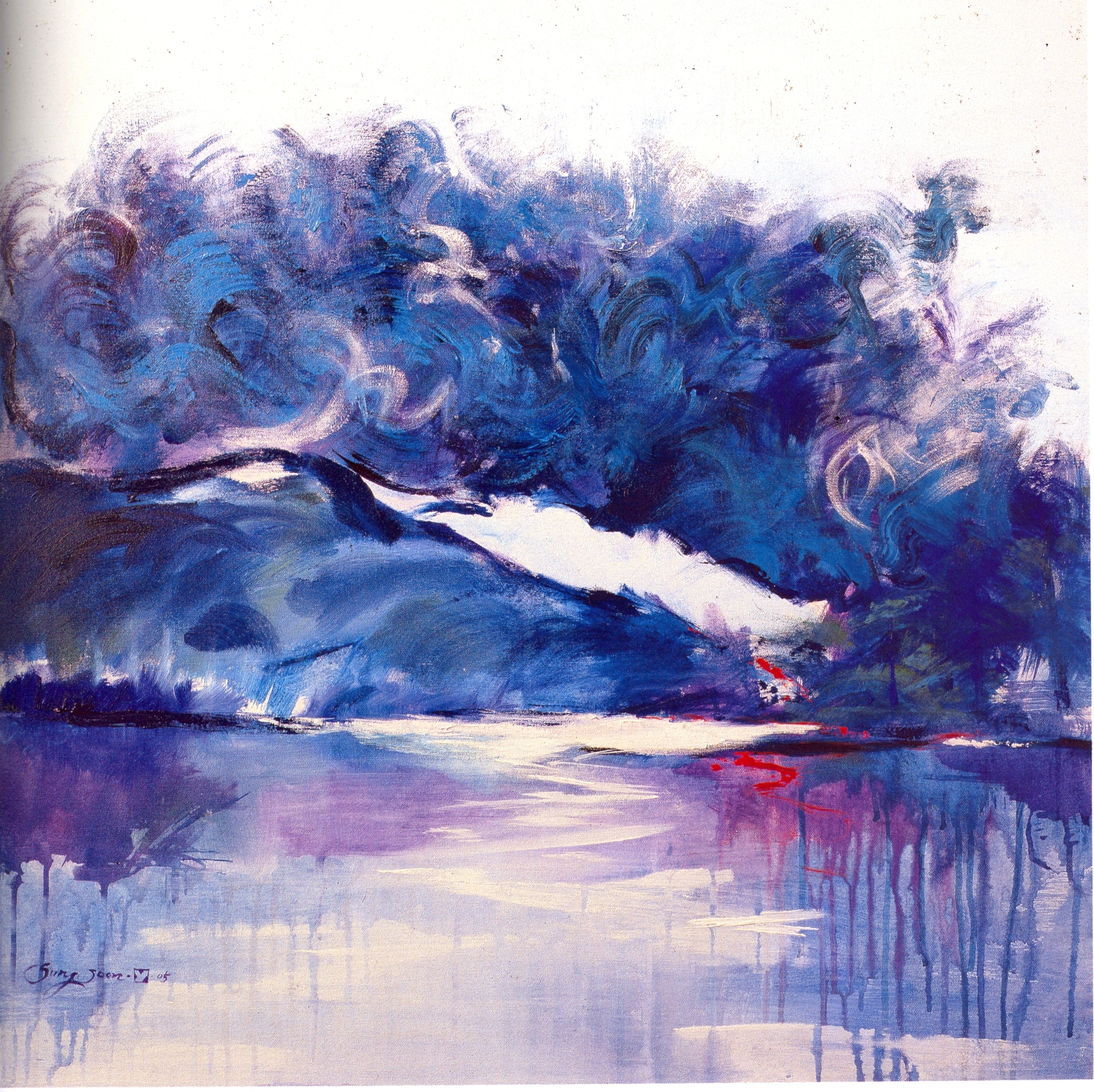 """Sung-Soon Yang    The Scenery of My Mind,   acrylic on canvas, 30"""" x 30"""", 2005"""