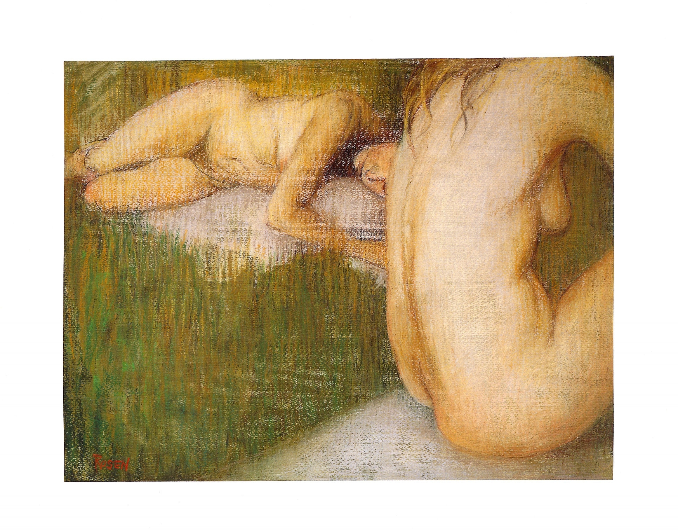 """Two Bathers V   Pastel and acrylic, 14"""" x 18"""", 2001"""