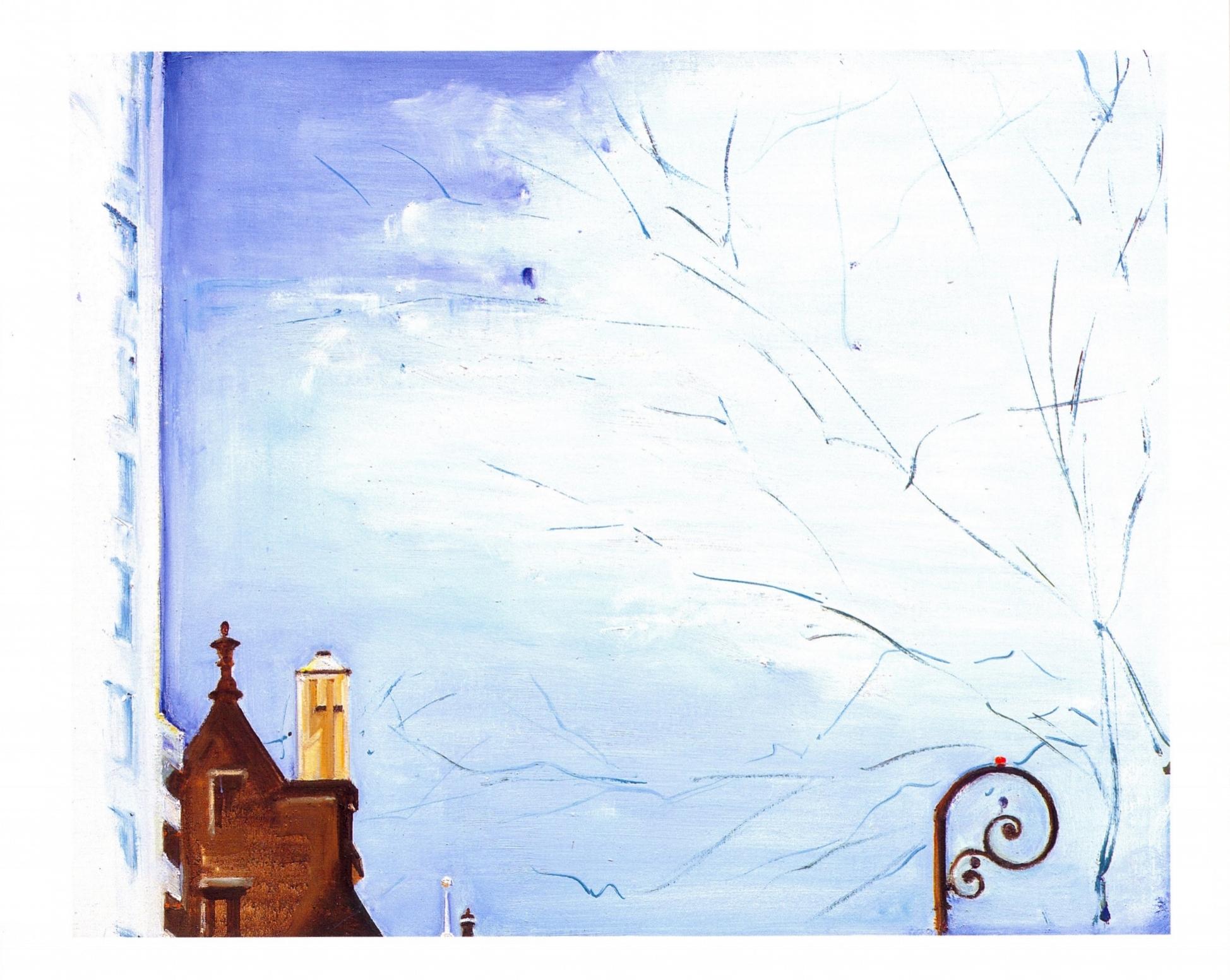 Above the Dakota, Skyscape 7   Oil on canvas, 24'' x 30'', 2004