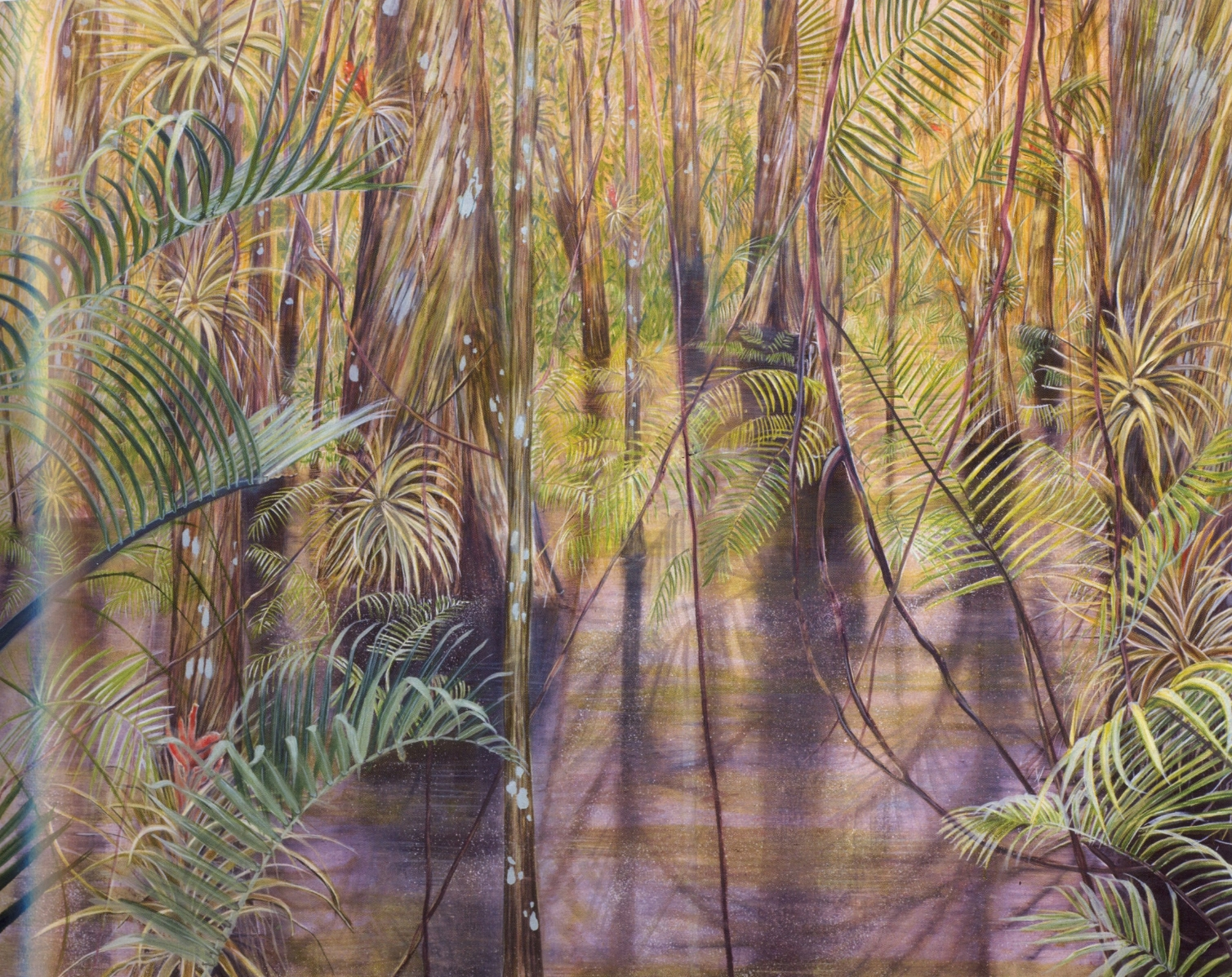 Cyprus Clearing   Oil on canvas, 48'' x 60'', 2004