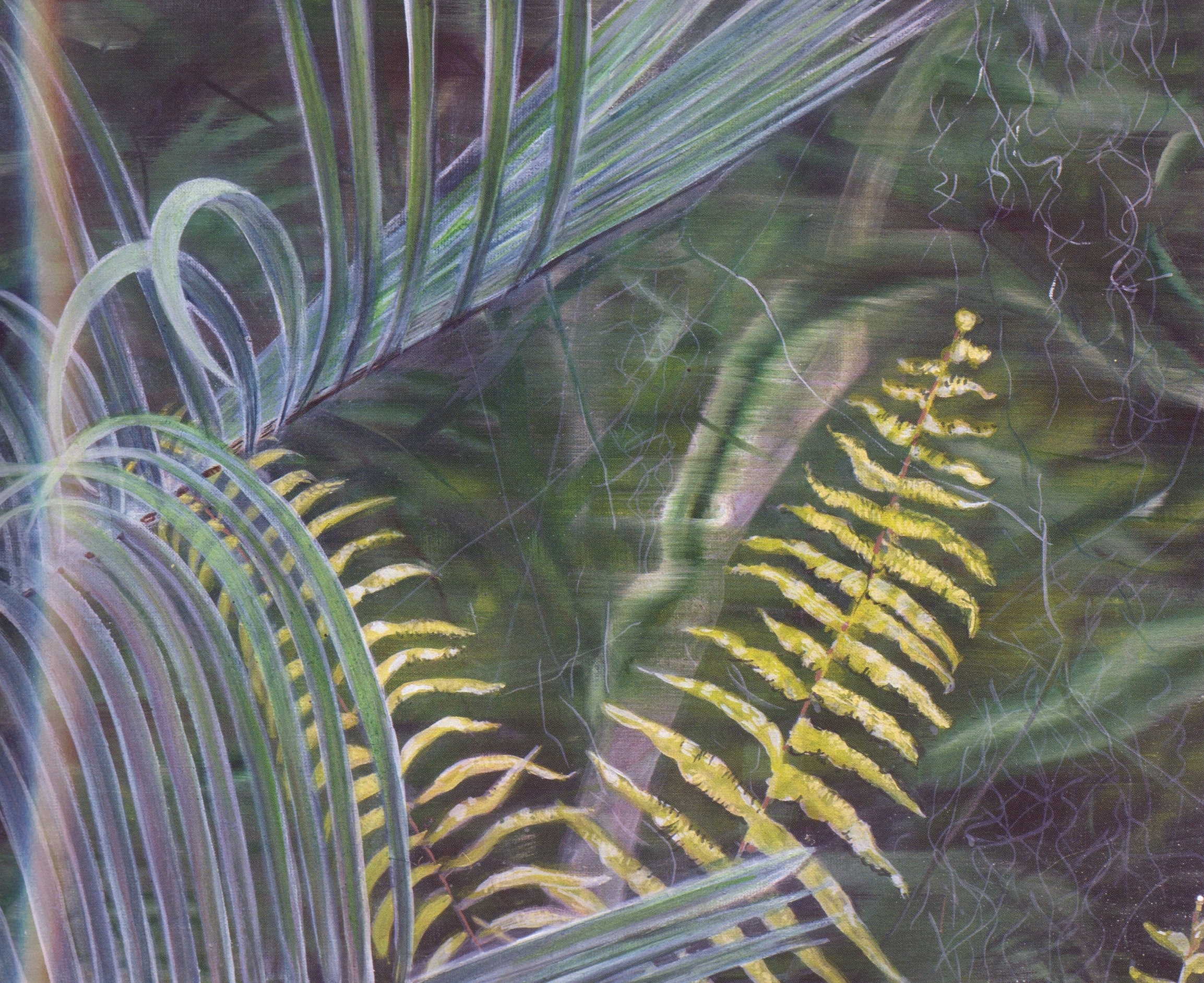 Frond and Fern   Oil on canvas, 20'' x 24'', 2004