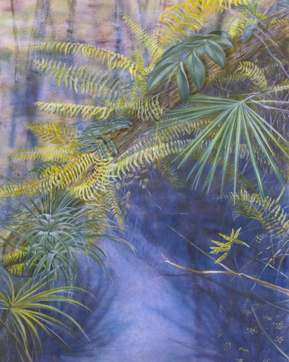 Diagonal Log   Oil on canvas, 60'' x 48'', 2003