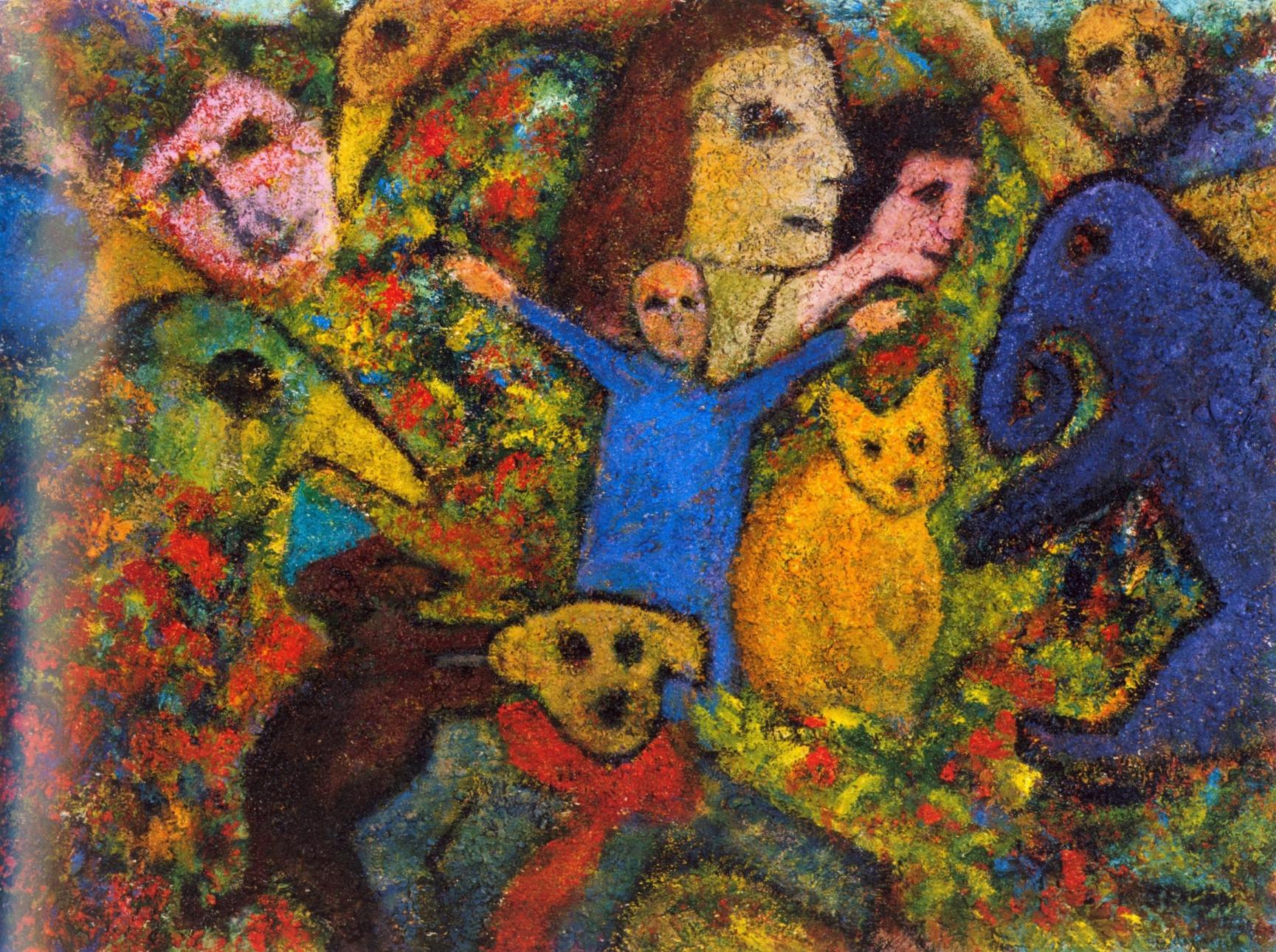 Salient Parables V   Acrylic, sand on canvas, 38'' x 44'', 2004