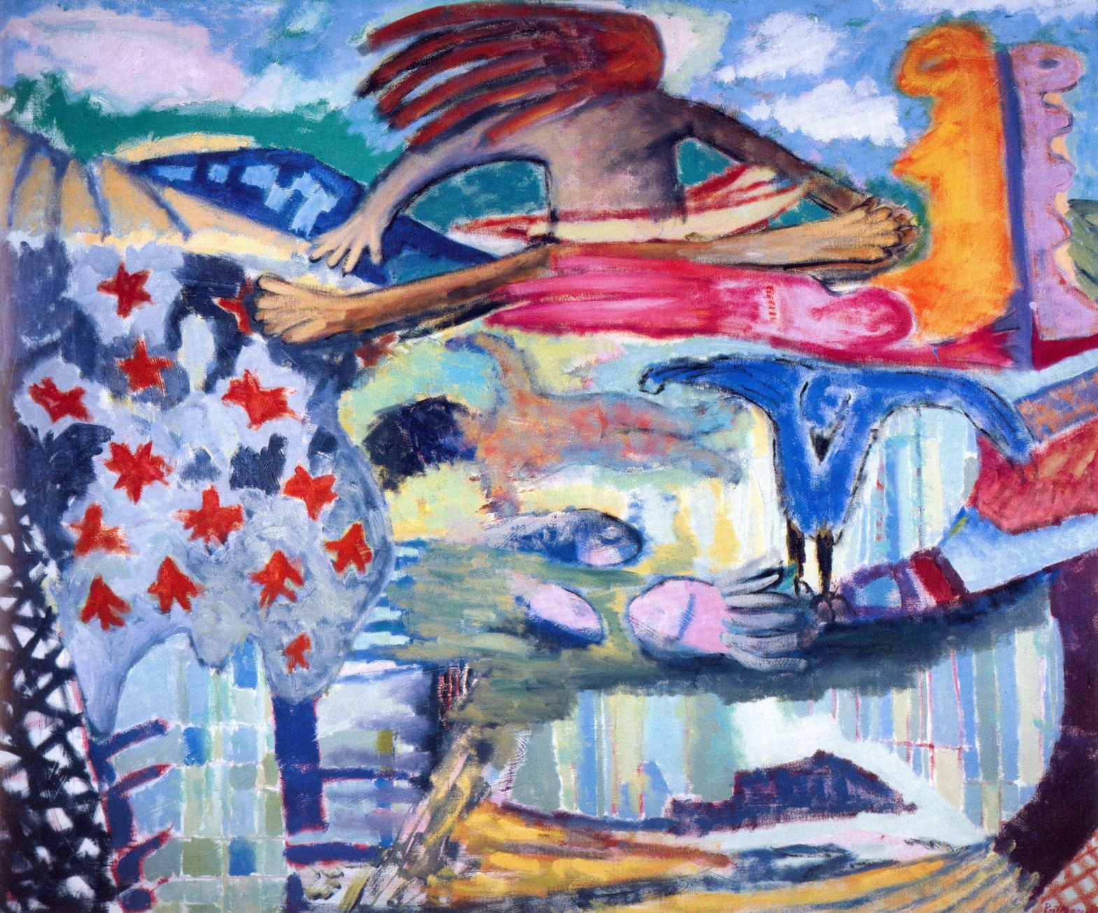 Metaphoric Fables   Oil on canvas, 60'' x 72'', 2004