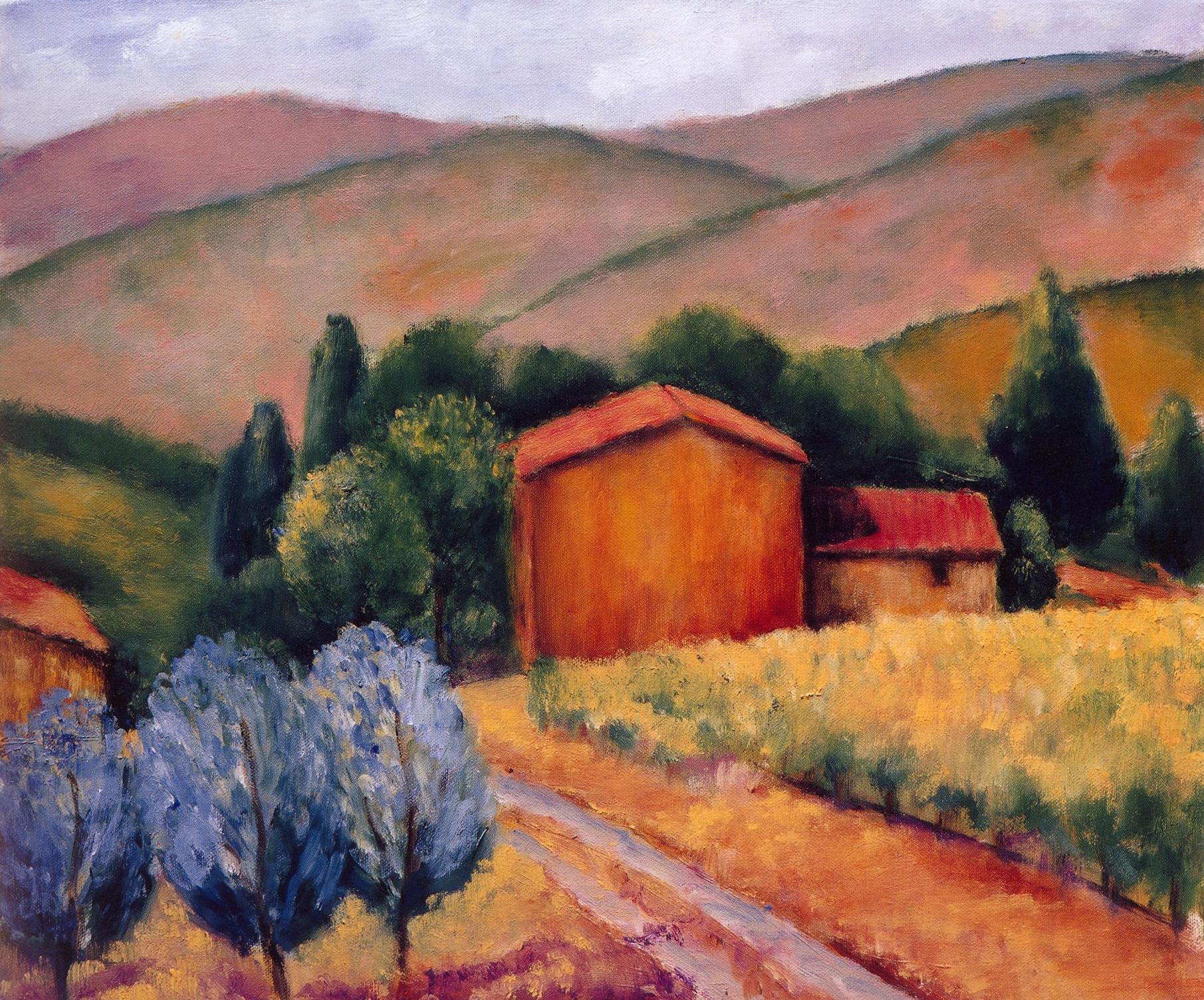 La Casa Piccolo, Panzano Valley   Oil on canvas, 20'' x 24'', 2004