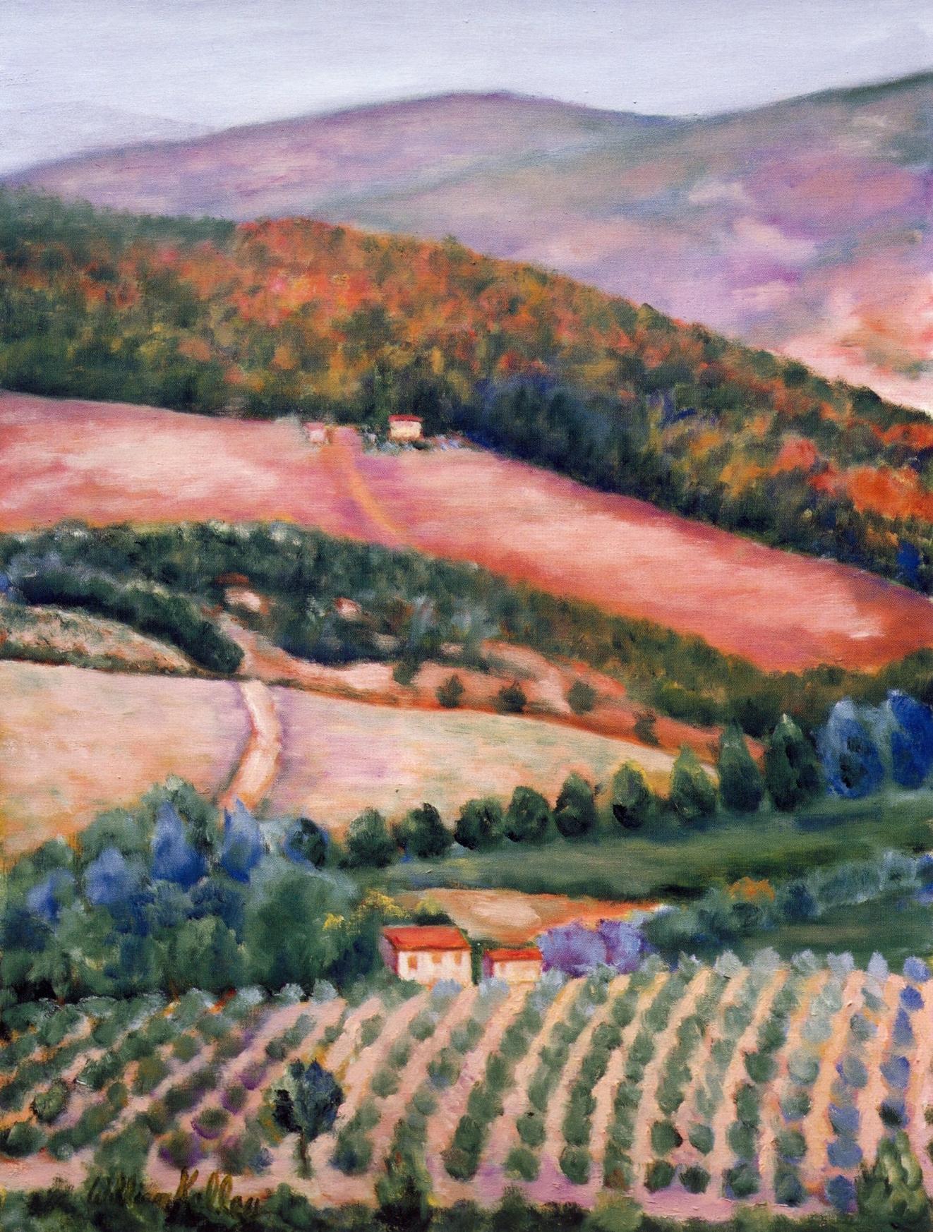 La Bella Vista, Chianti   Oil on canvas, 36'' x 48'', 2004