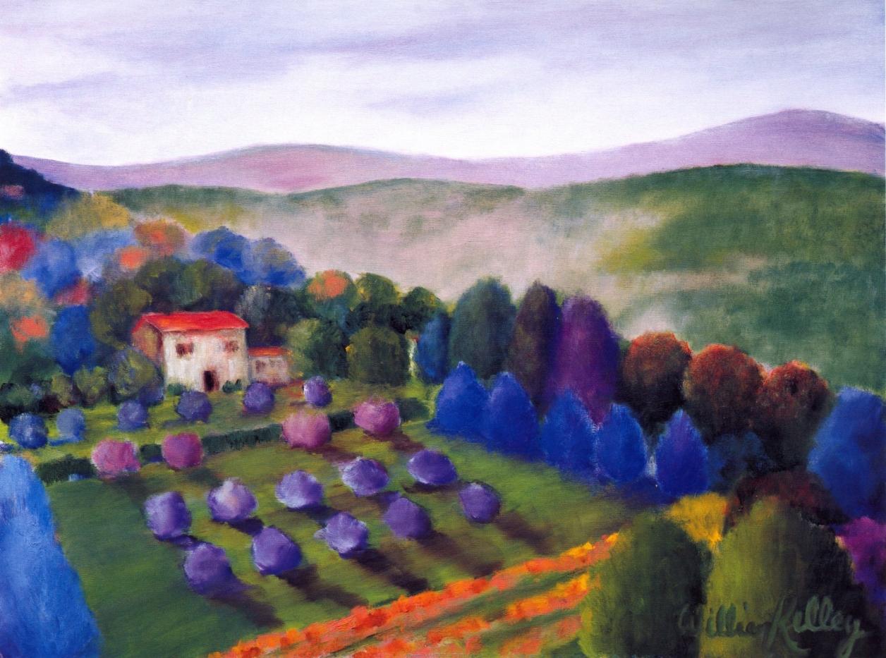 La Casa, Montalcino   Oil on canvas, 24'' x 32'', 2004