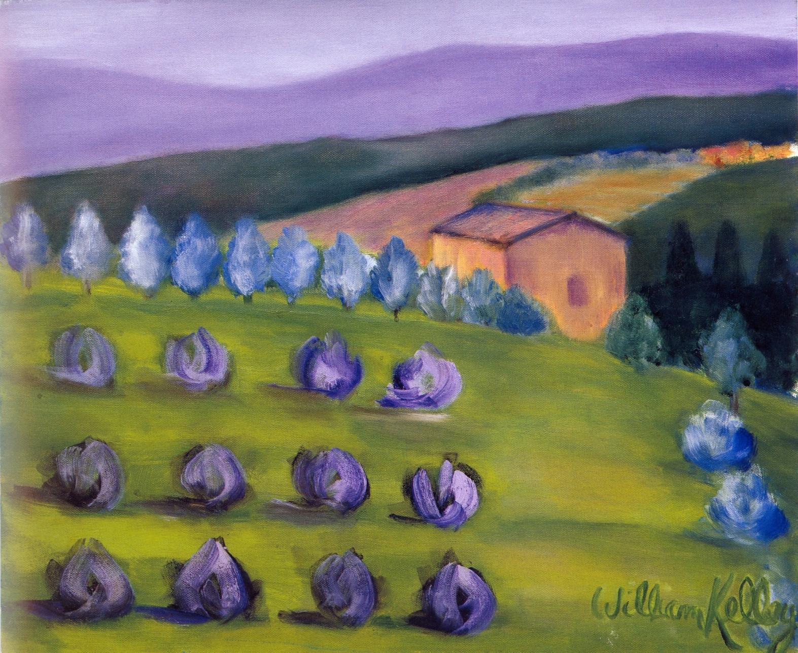 Il Paesaggio Viola, Chianti   Oil on canvas, 20'' x 24'', 2004