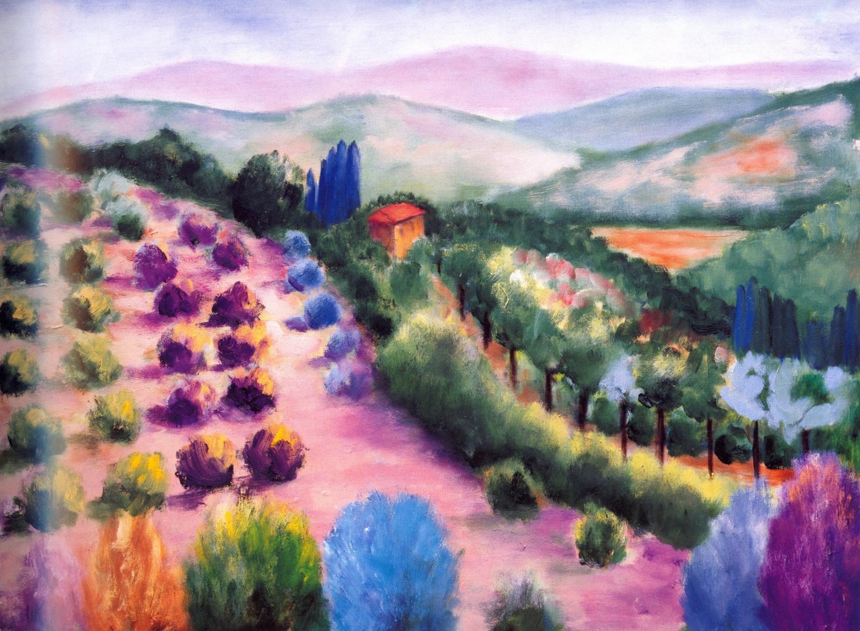 La Casa, Radda In Chianti   Oil on canvas, 24'' x 32'', 2004