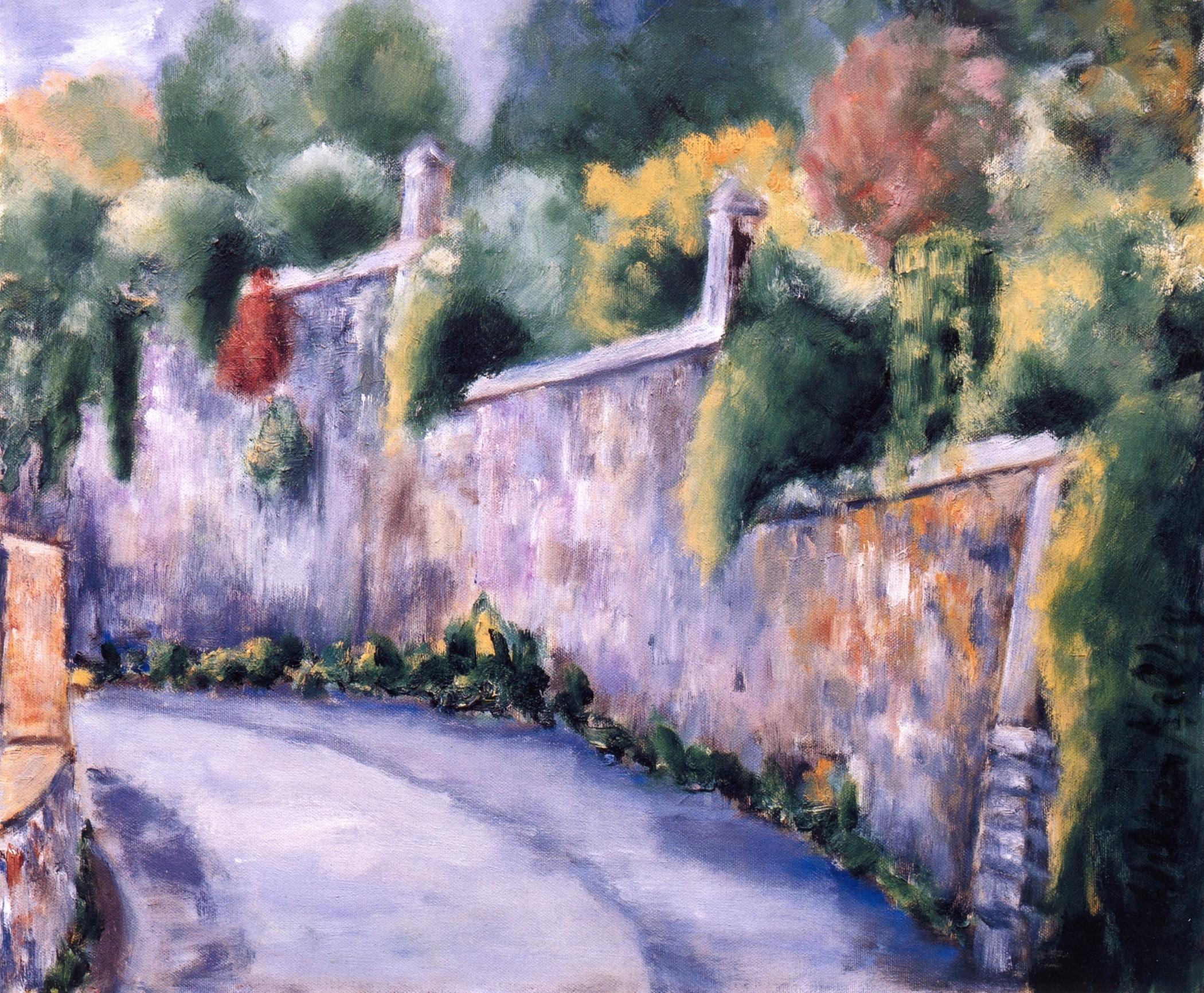 La Strada, Fiesole   Oil on canvas, 20'' x 24'', 2004