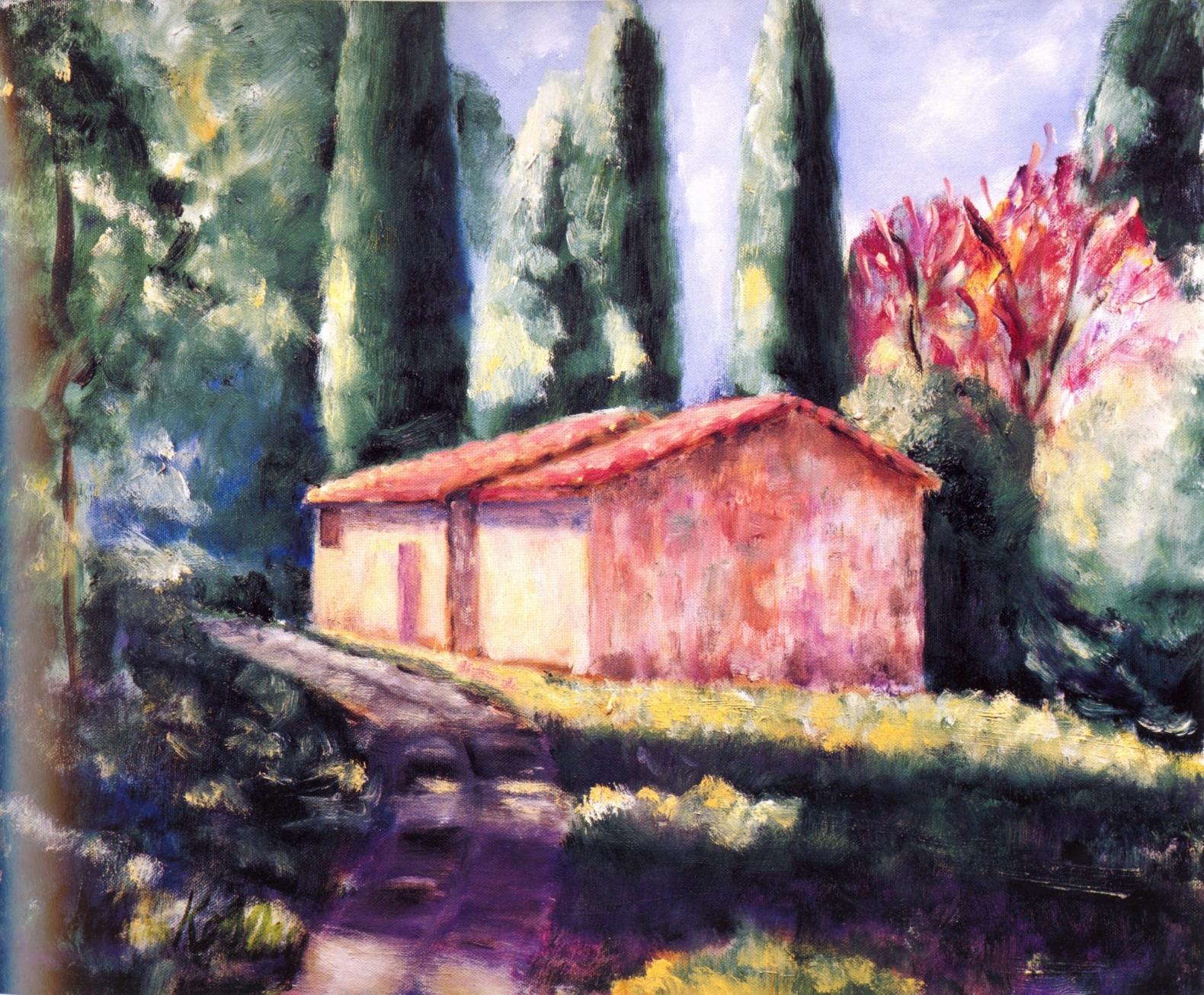 La Casa Piccolo, Giaole In Chianti   Oil on canvas, 20'' x 24'', 2004