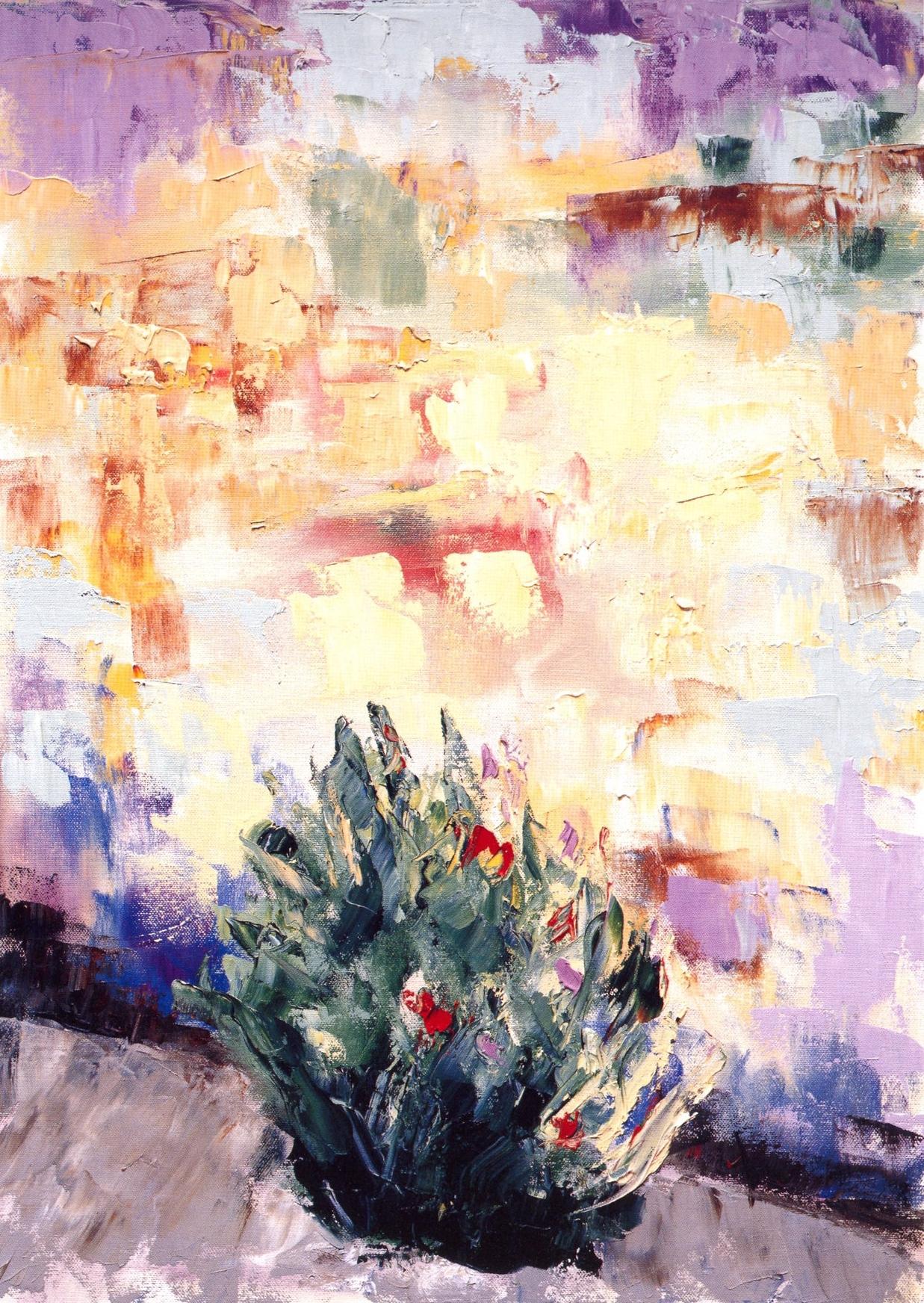 I Fiori é Muro #2 San Gimignano   Oil on canvas, 28'' x 20'', 2004