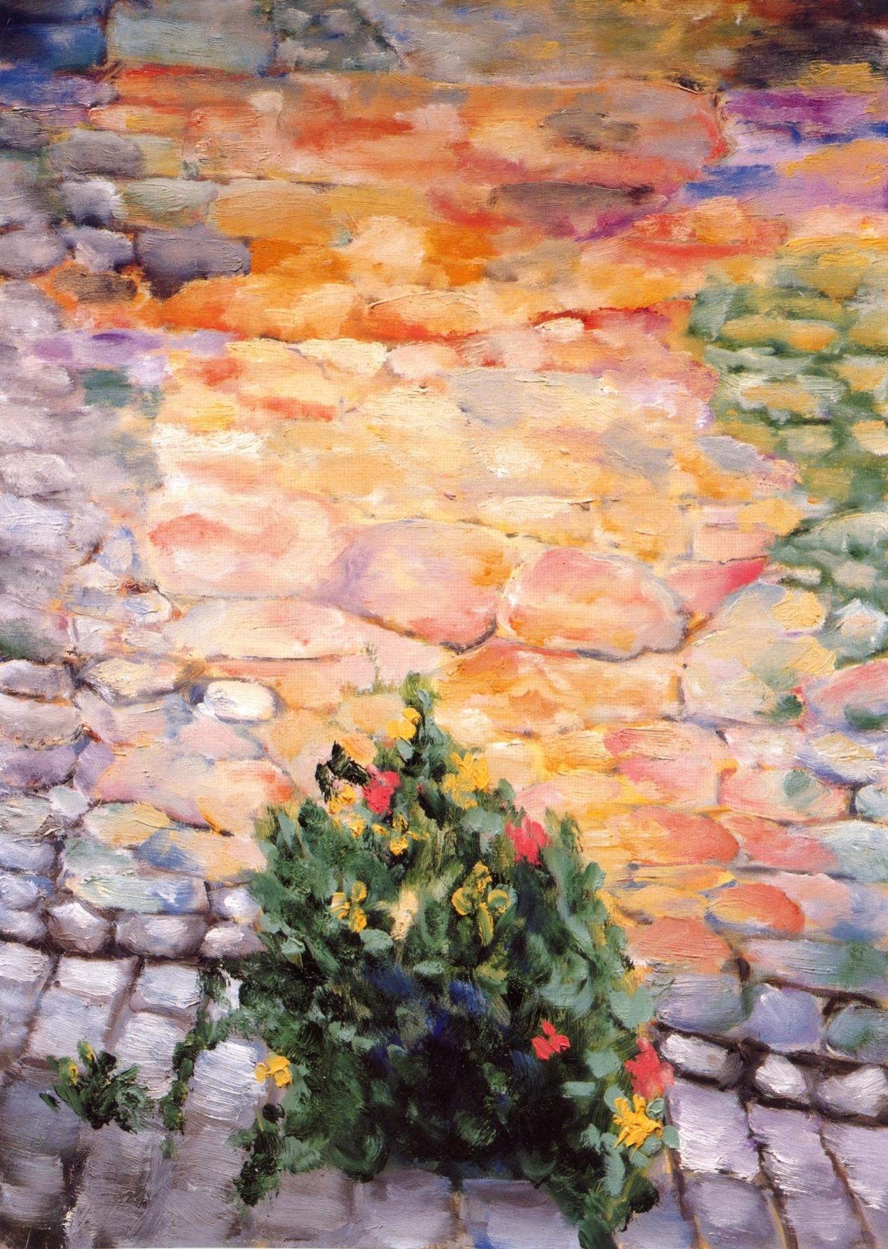 I Fiori é Muro #1 San Gimignano   Oil on canvas, 20'' x 28'', 2004