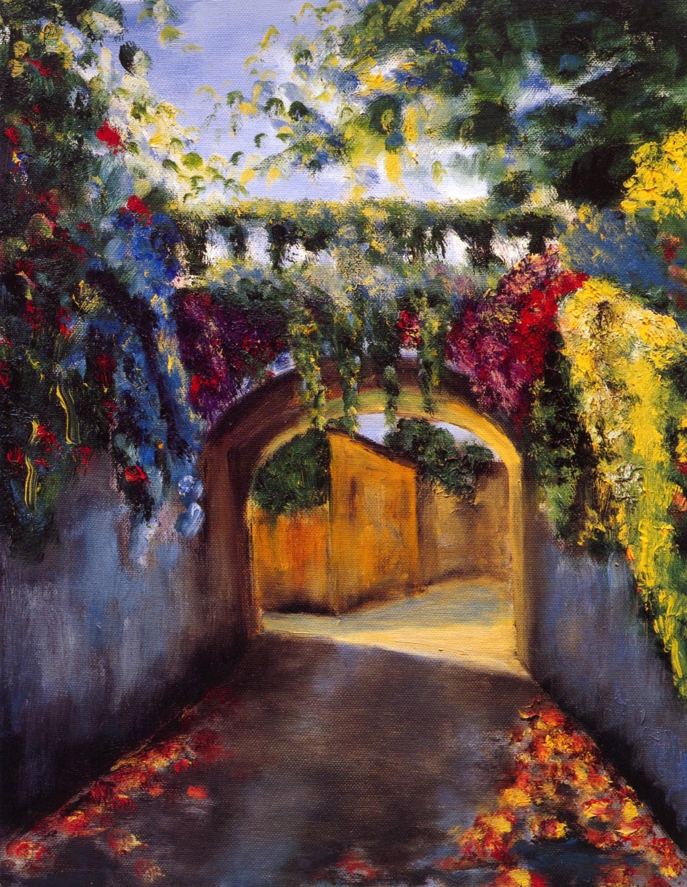 Ponte Piccolo Bellagio   Oil on canvas, 14'' x 18'', 2004
