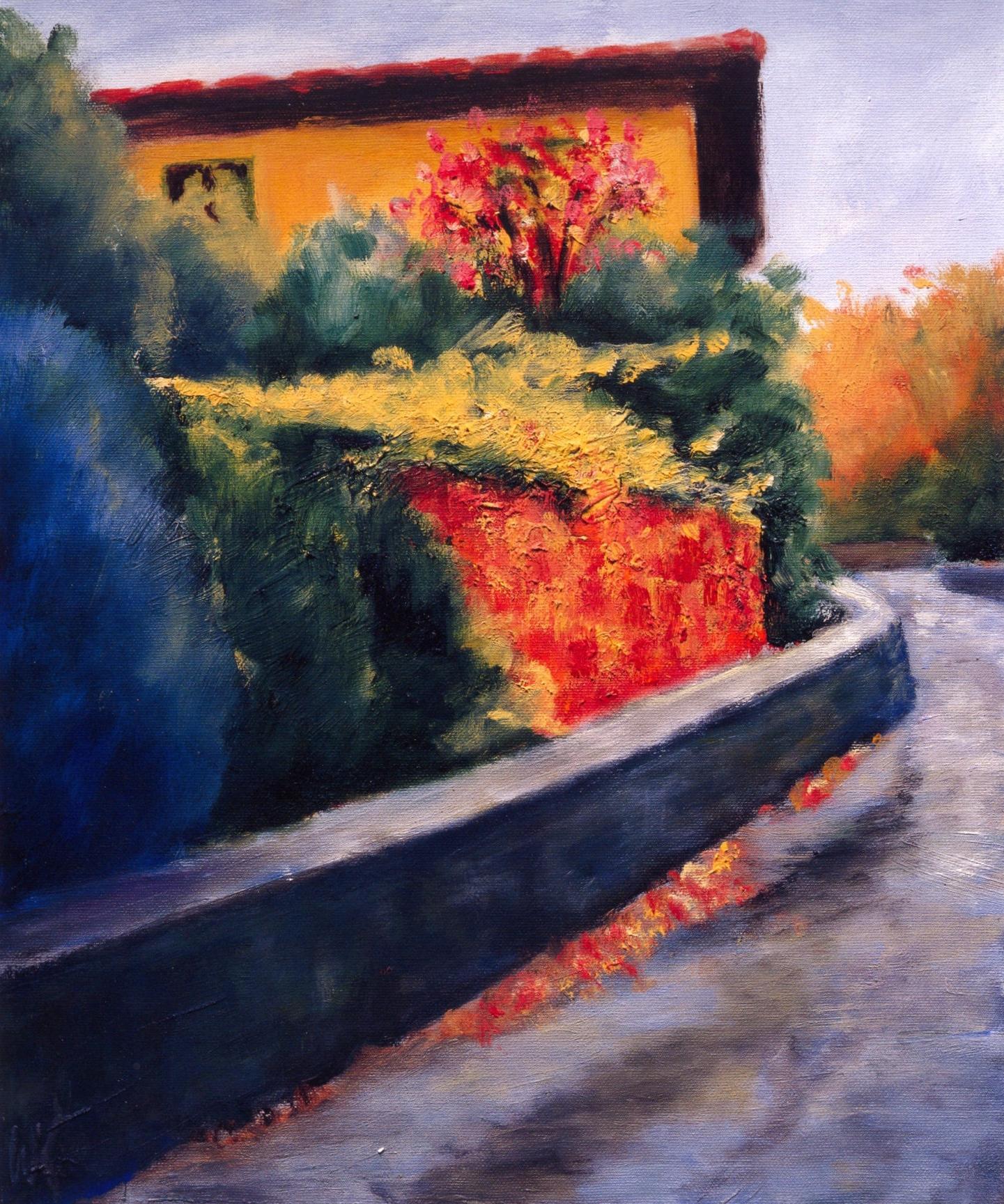 La Strada, Pescalo   Oil on canvas, 20'' x 24'', 2004
