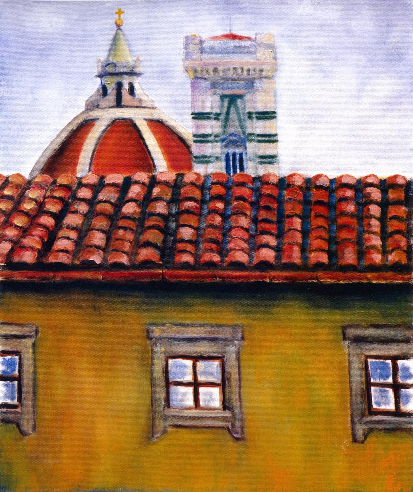 Vista de Studio Mio Firenze   Oil on canvas, 20'' x 24'', 2004