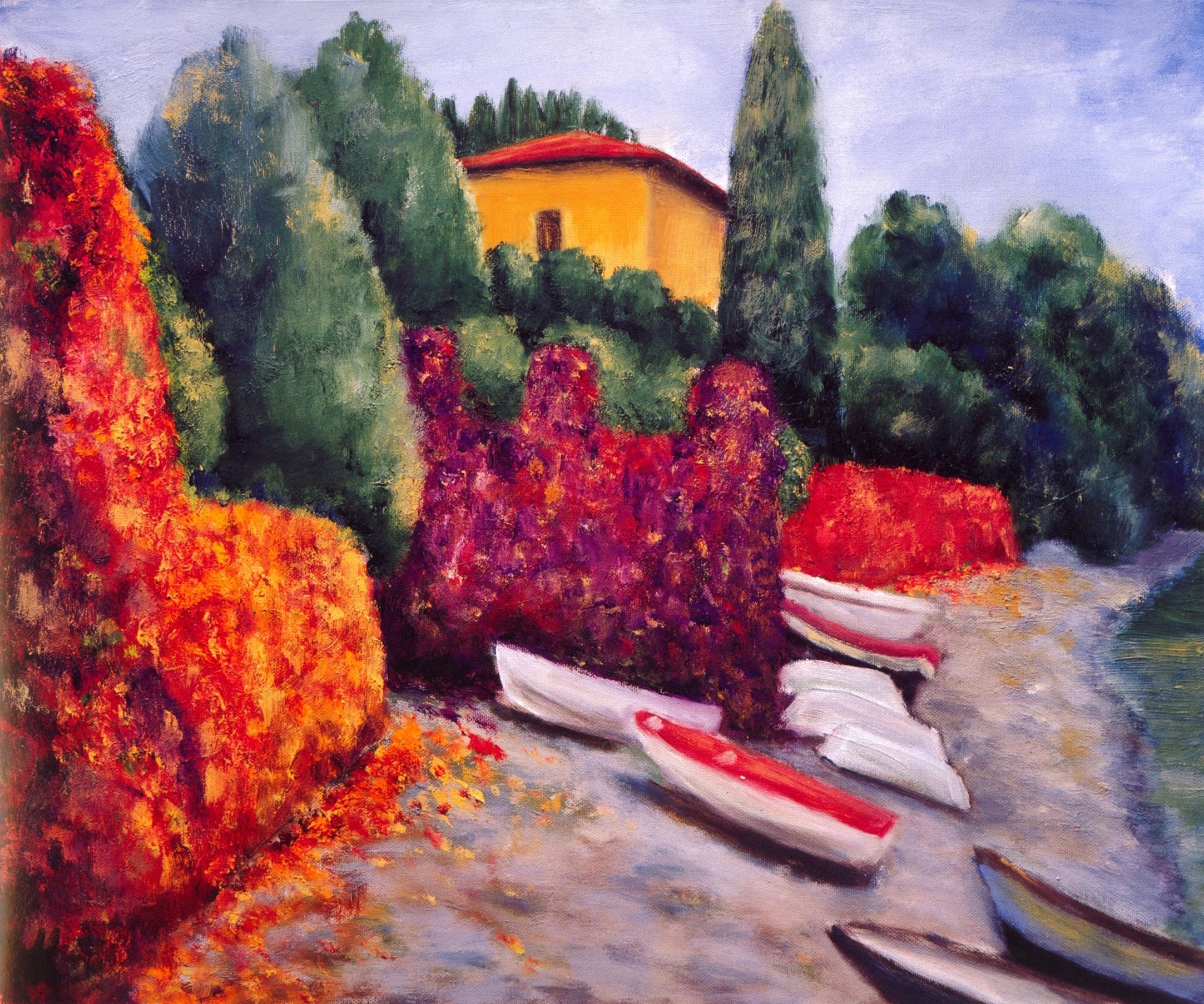 Il Spiaggio, Pescalo   Oil on canvas, 20'' x 24'', 2004