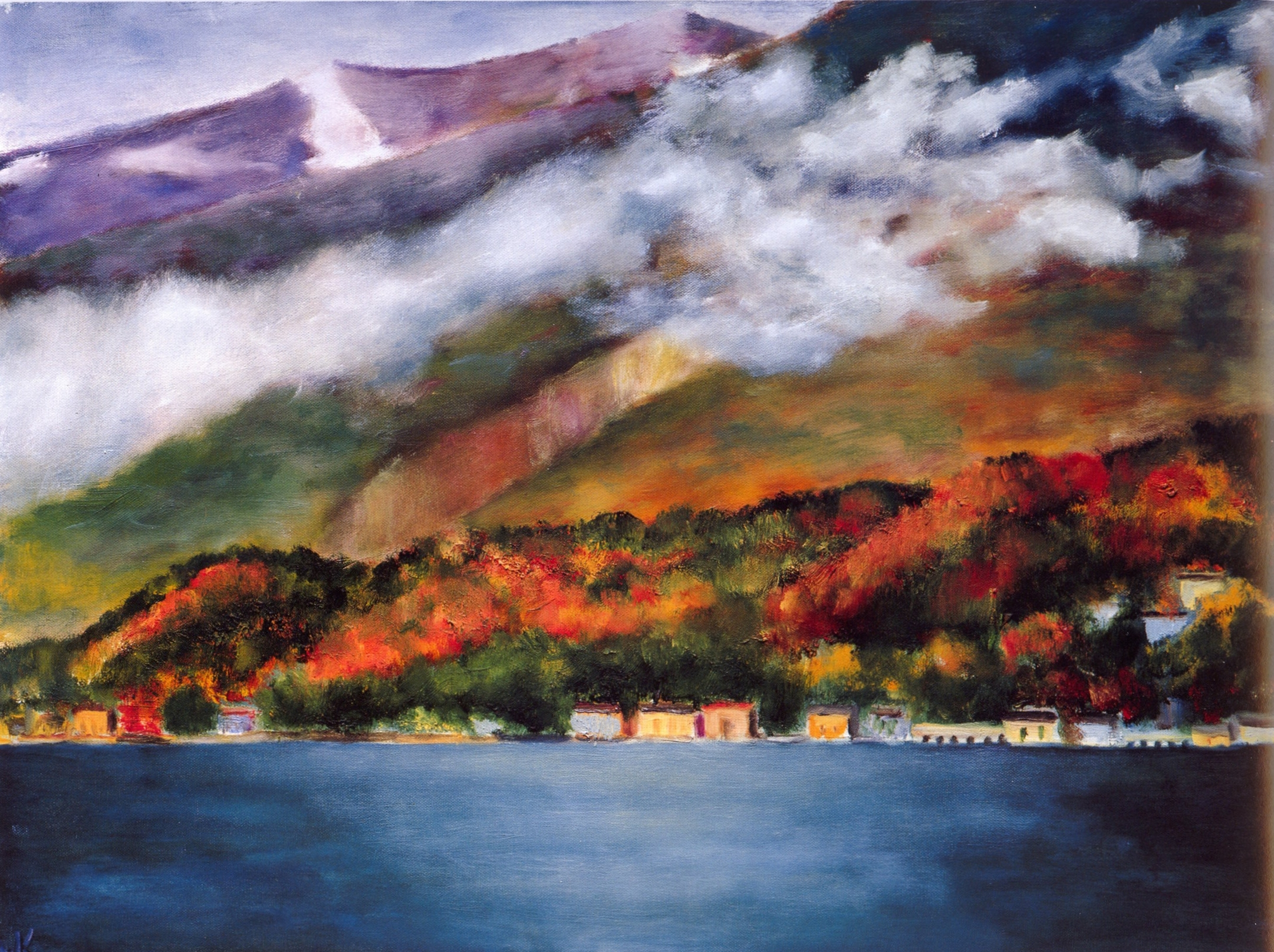 La Bella Vista #1 Bellagio   Oil on canvas, 28'' x 36'', 2004