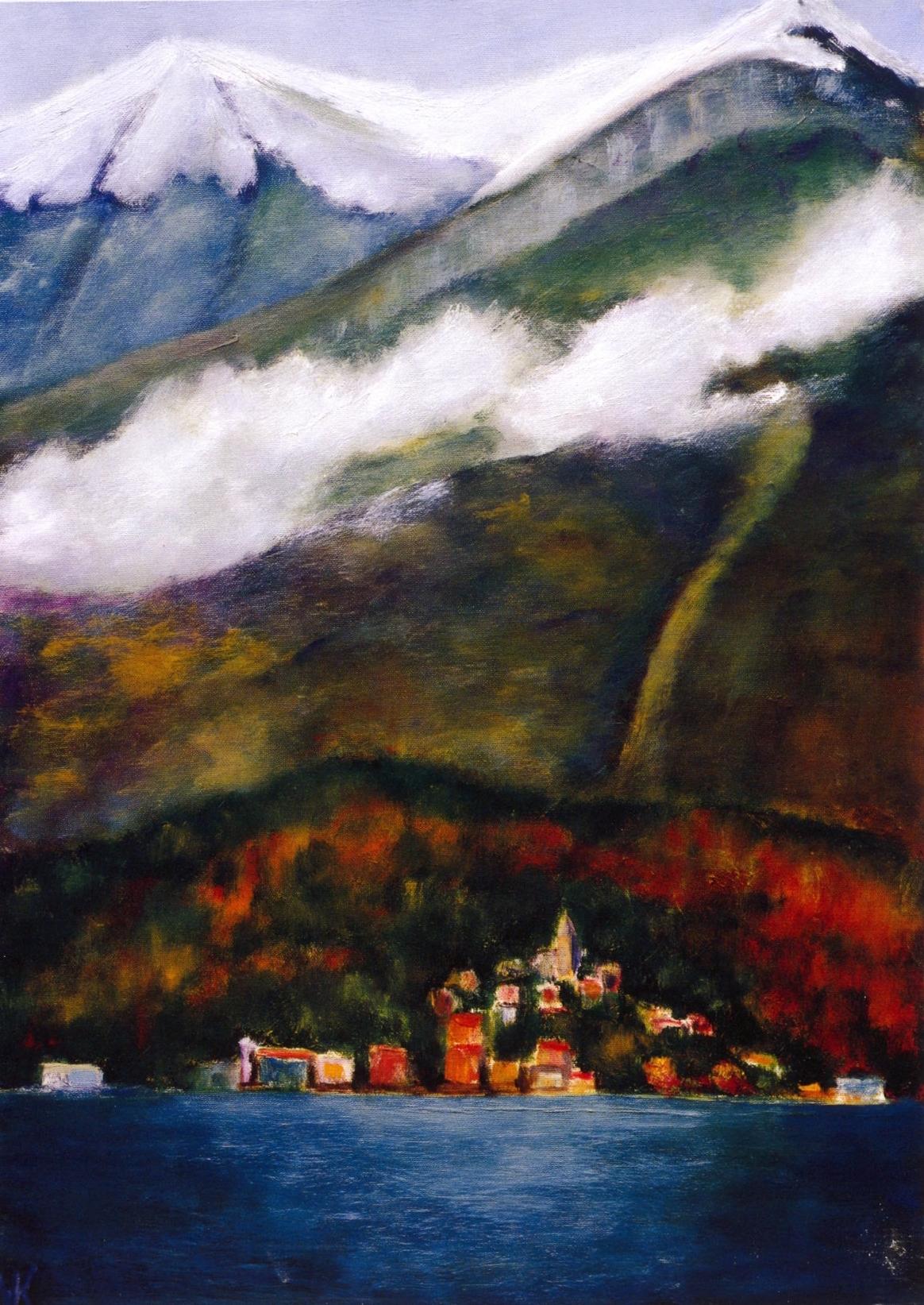 La Bella Vista #2 Bellagio   Oil on canvas, 28'' x 20'', 2004