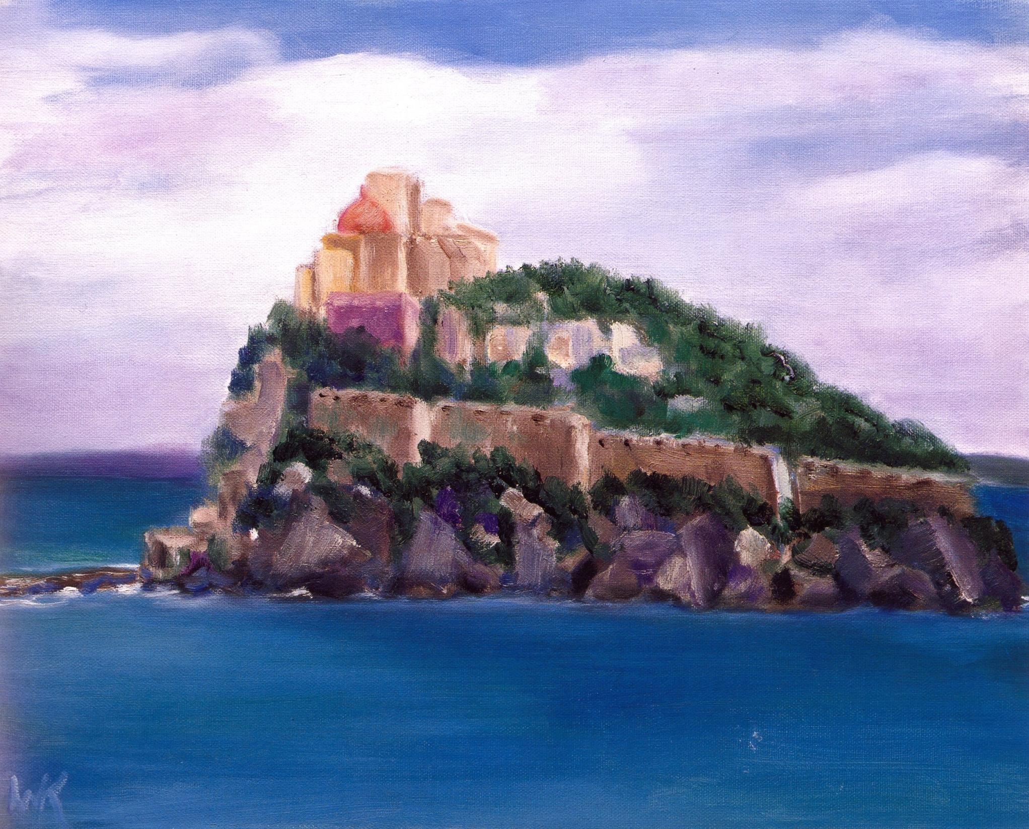 Il Castello, Ischia   Oil on canvas, 16'' x 20'', 2004