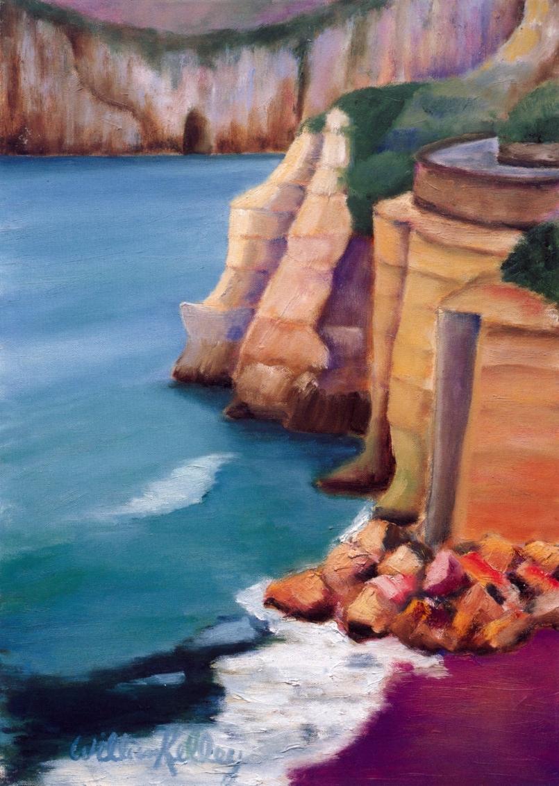 San Angelo, Ischia   Oil on canvas, 20'' x 28'', 2004