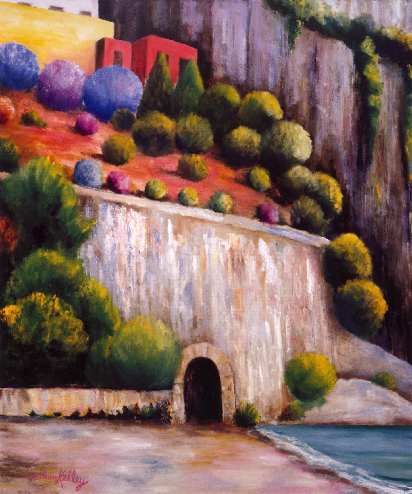 Il Spiaggio, Fornillo Positano   Oil on canvas, 60'' x 72'', 2003