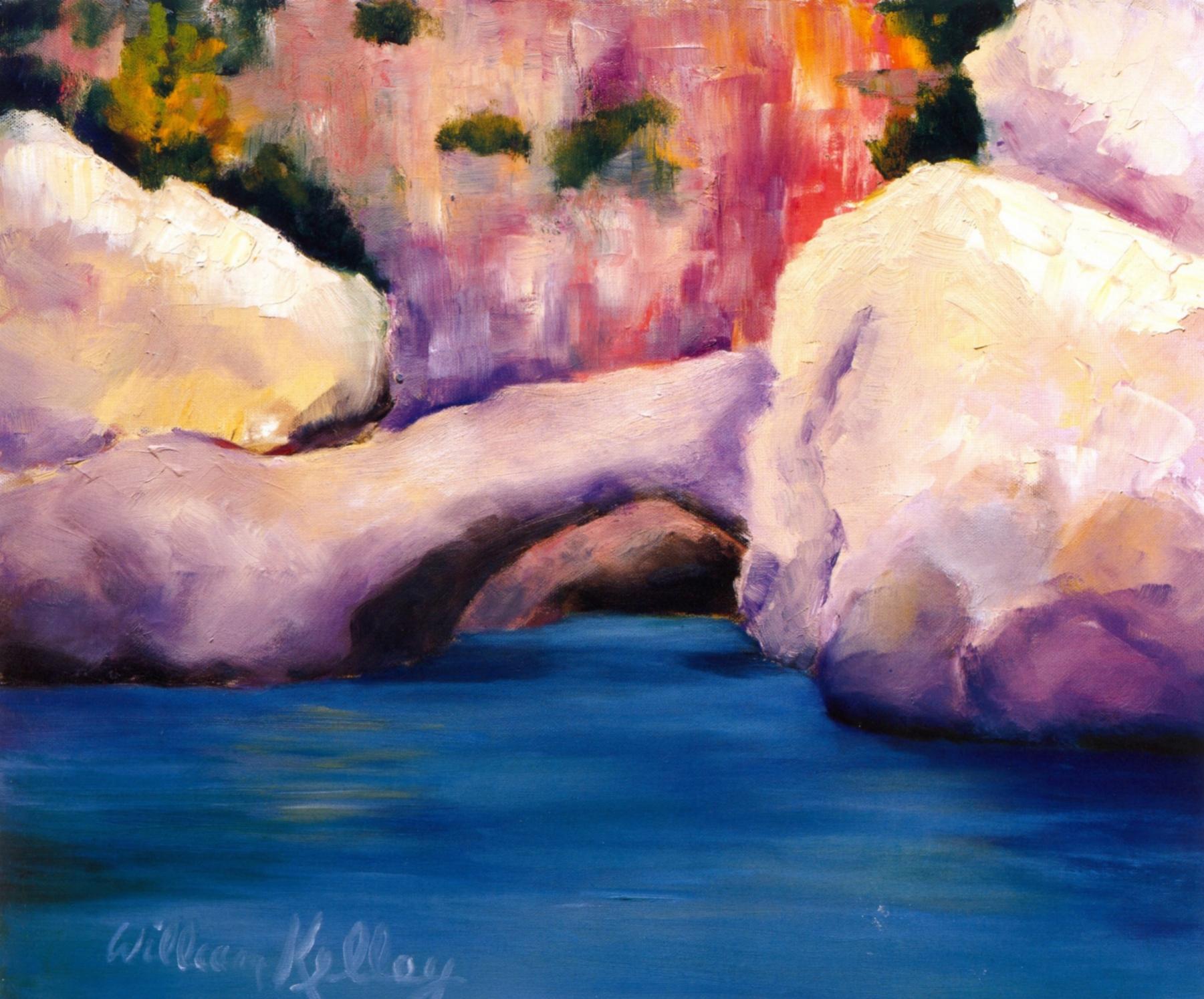 Ponte Naturale, Amalfi   Oil on canvas, 20'' x 24'', 2004