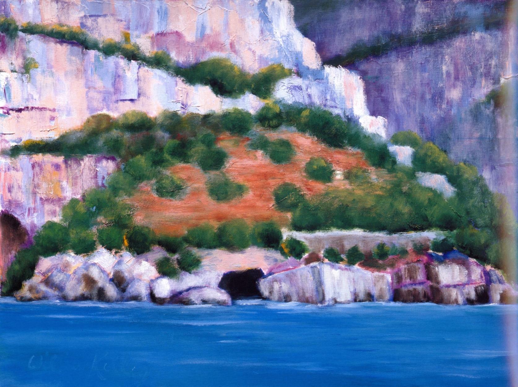 Il Grotto Emeraldo, Amalfi   Oil on canvas, 28'' x 36'', 2004