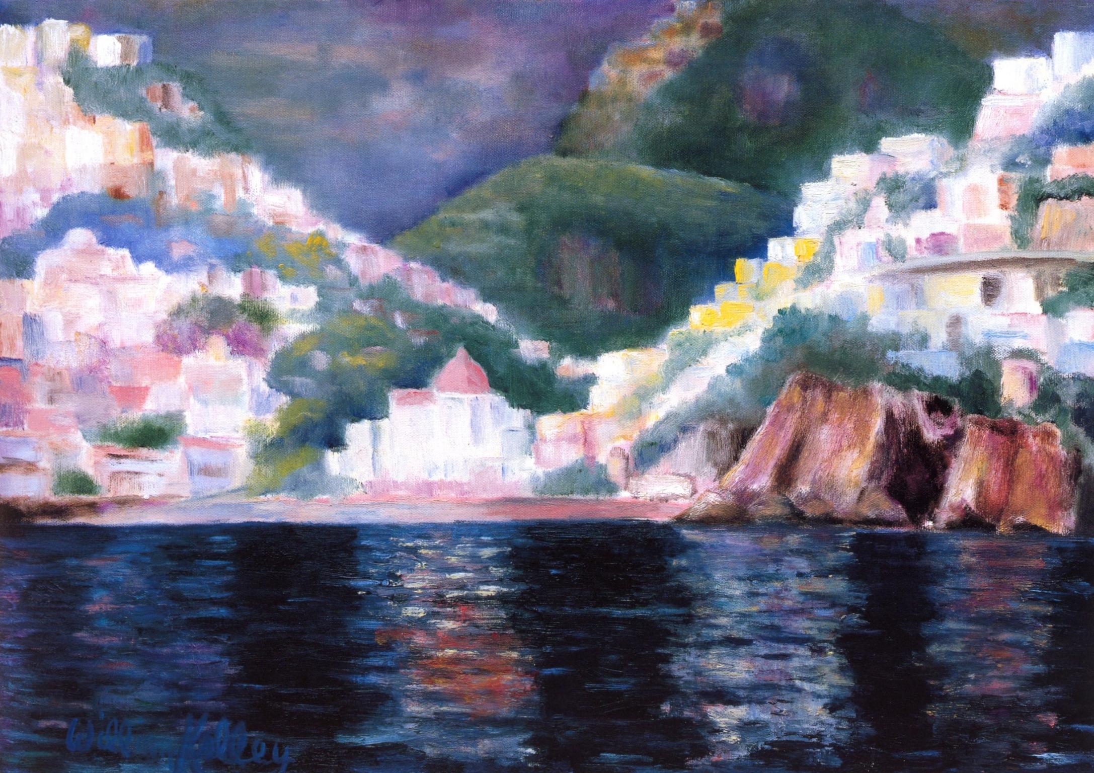 Bella Sera, Positano   Oil on canvas, 20'' x 28'', 2004