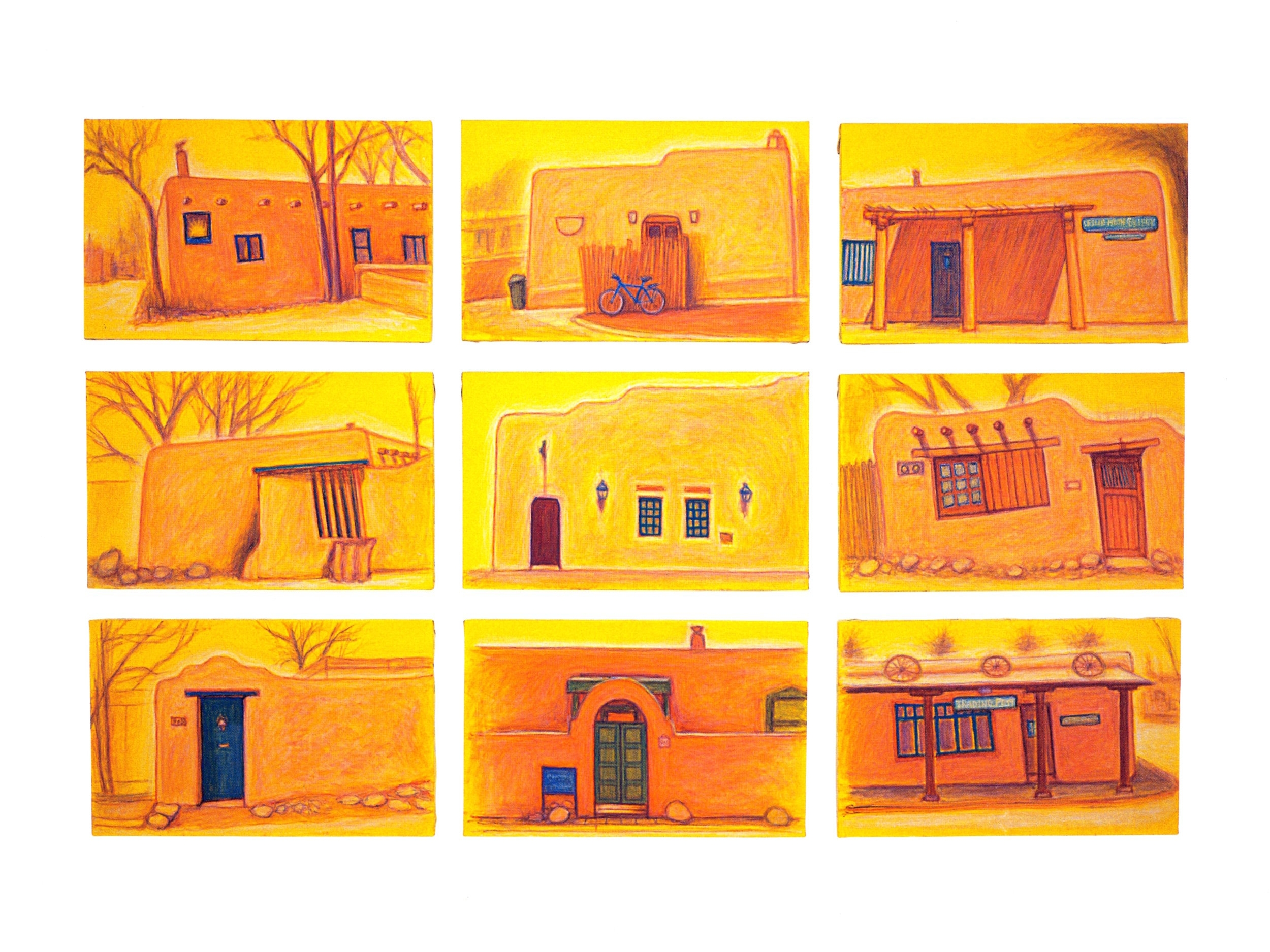Adobe, Santa Fe - 1   Oil on canvas, 43'' x 66'', 2004