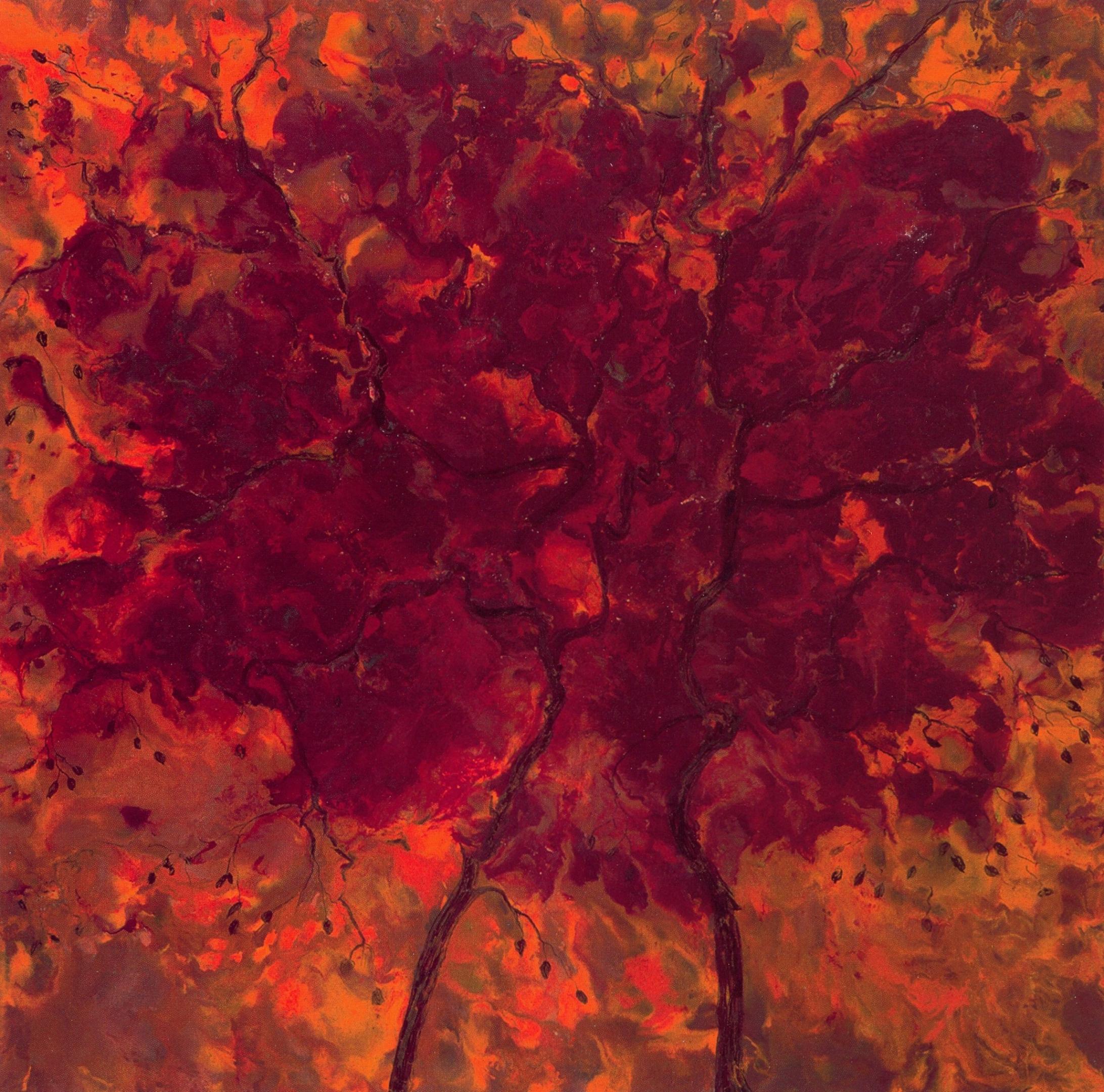Bridget Busutil   Dancing Trees  , Encaustic on canvas, 30'' x 30'', 2003