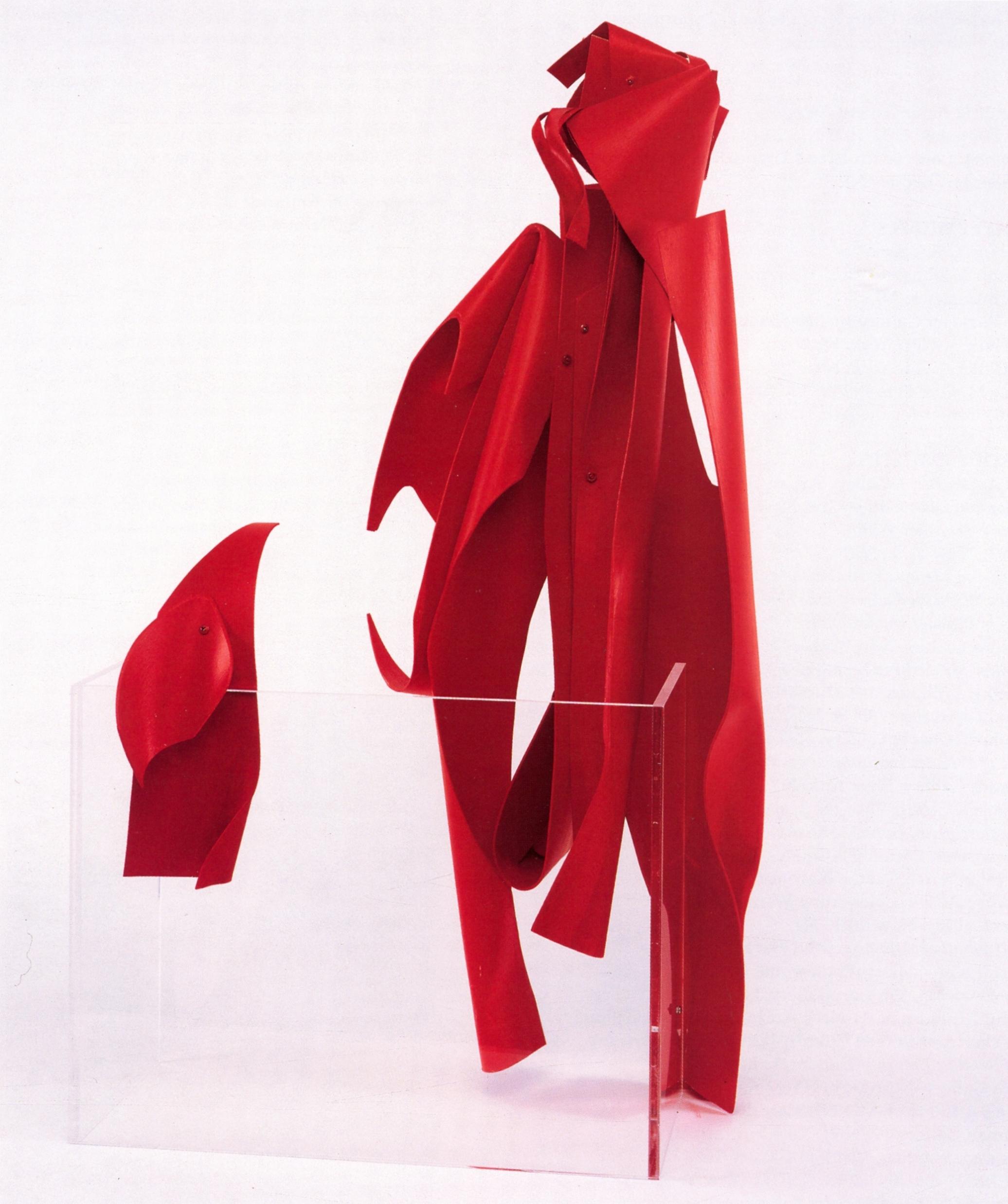 Susan Manspeizer   #1003 Conversations  , Painted wood, plastic, 34'' x 19'' x 18'', 2003