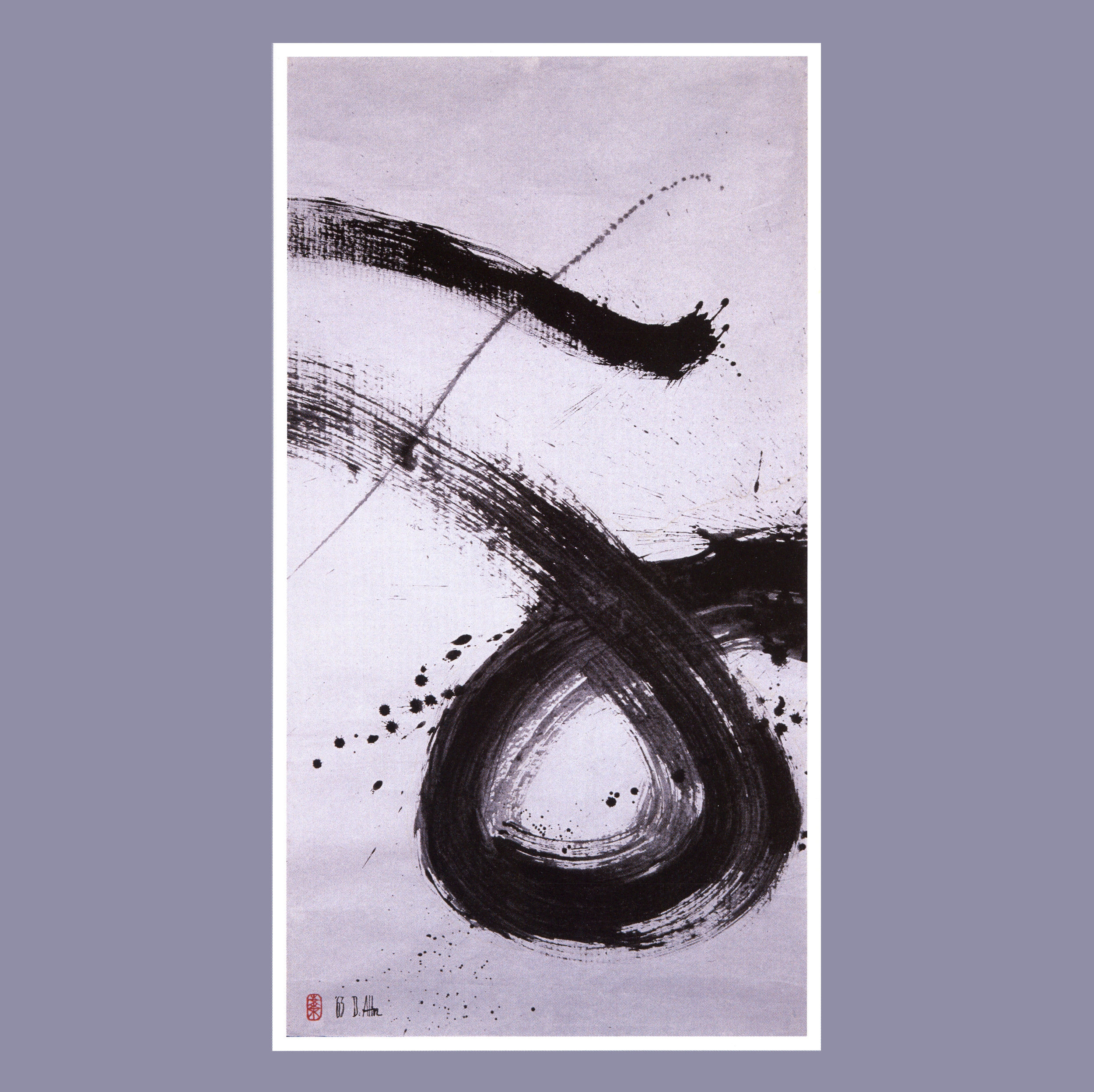 Zen Circle II   Ink on rice paper, 52 1/2'' x 28 1/2'', 1963