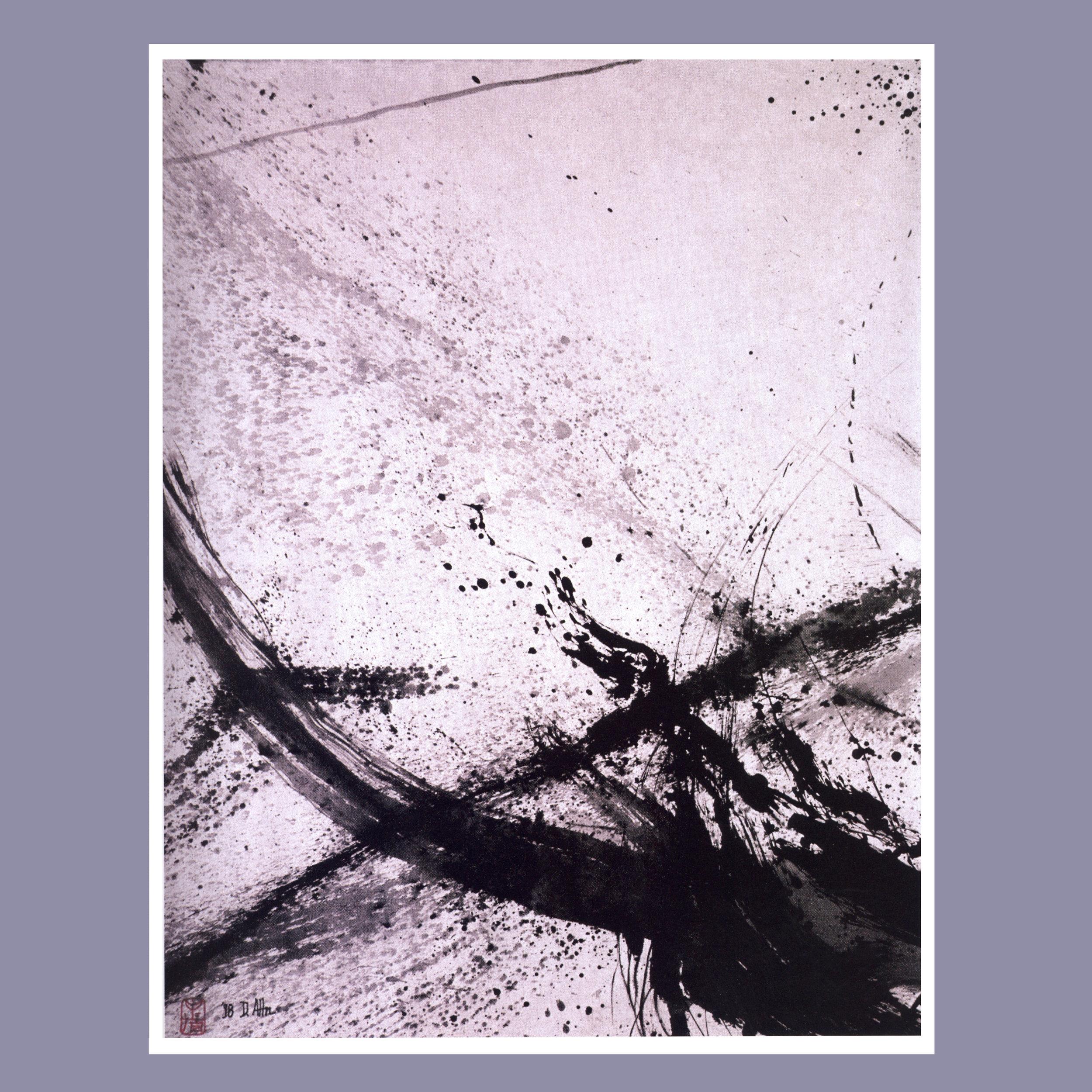Zen & Wave II   Ink on rice paper, 32'' x 38 1/2'', 1998