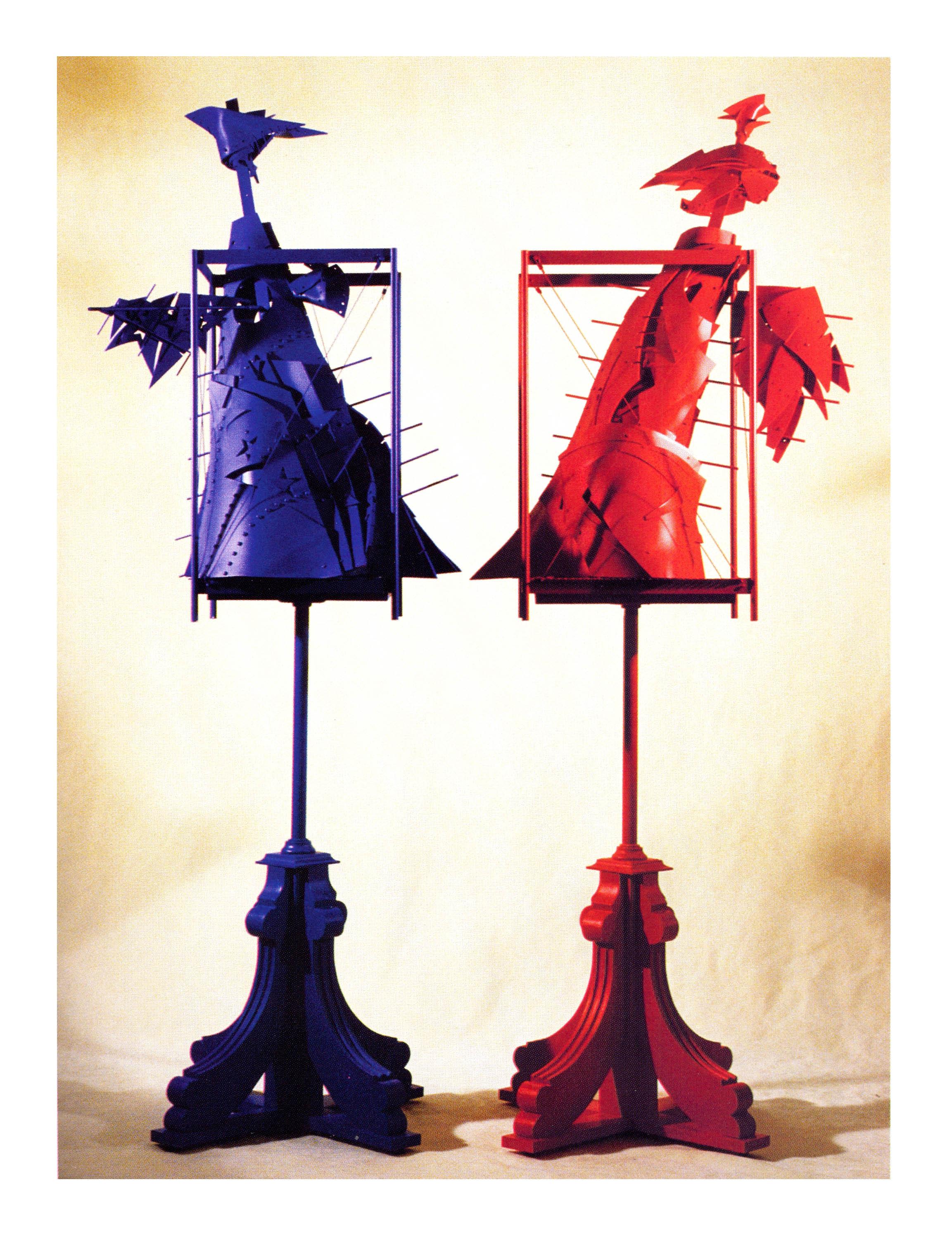 Alexy Klimov   Blue Angel and Joan of Arc  , Metal, Plastic, Acrylic, 75'' High, 2001