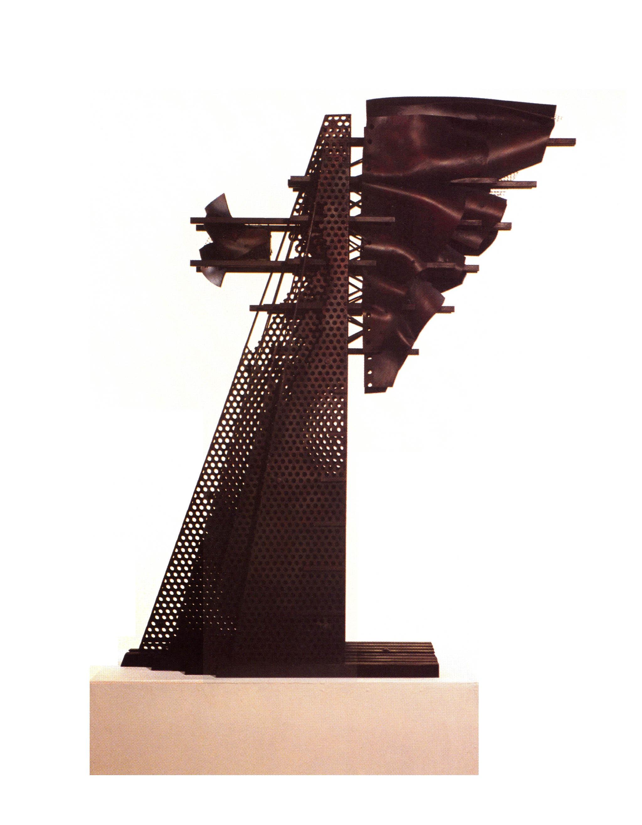 Alexy Klimov   Perforated Motion (Side View)  , Metal, Plastic, Automotive Paint, 45'' x 32'' x 12'', 2003
