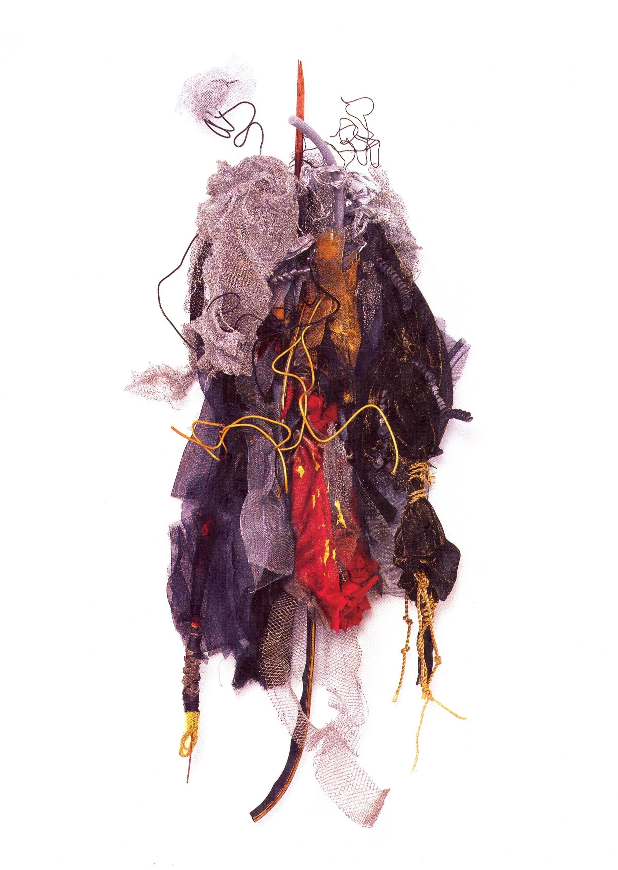 Renée Lerner   Helas  , Assemblage, Mixed Media, 55'' x 22'' x 12.5'', 2002