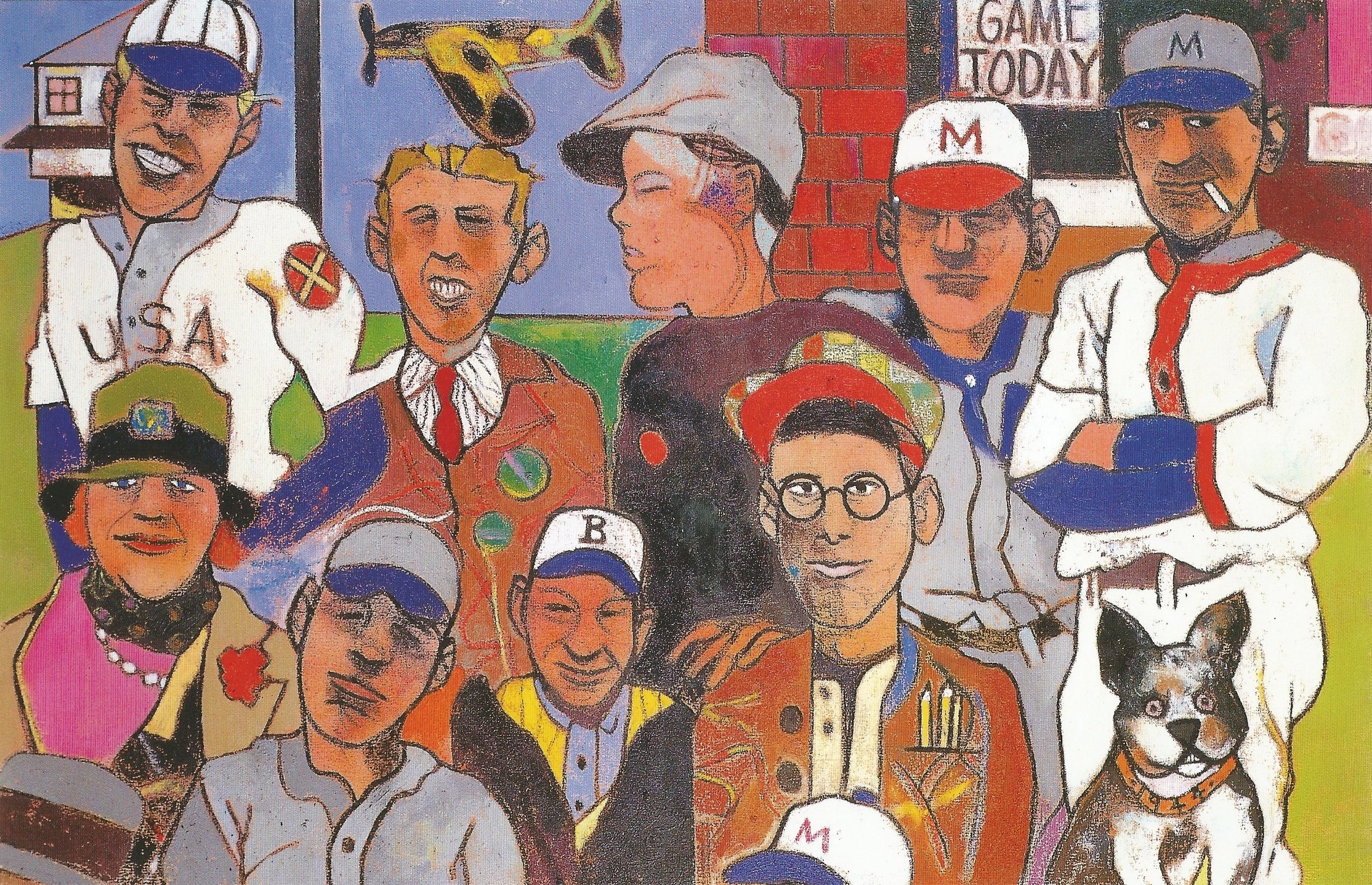 Kirby Higbe's Manila Dodgers (The Parade Grounds)   Oil on canvas, 48'' x 72'', 1998